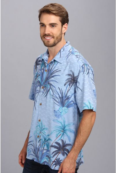 Tommy bahama serenity palms ss camp shirt in floral for for Tommy bahama christmas shirt 2014