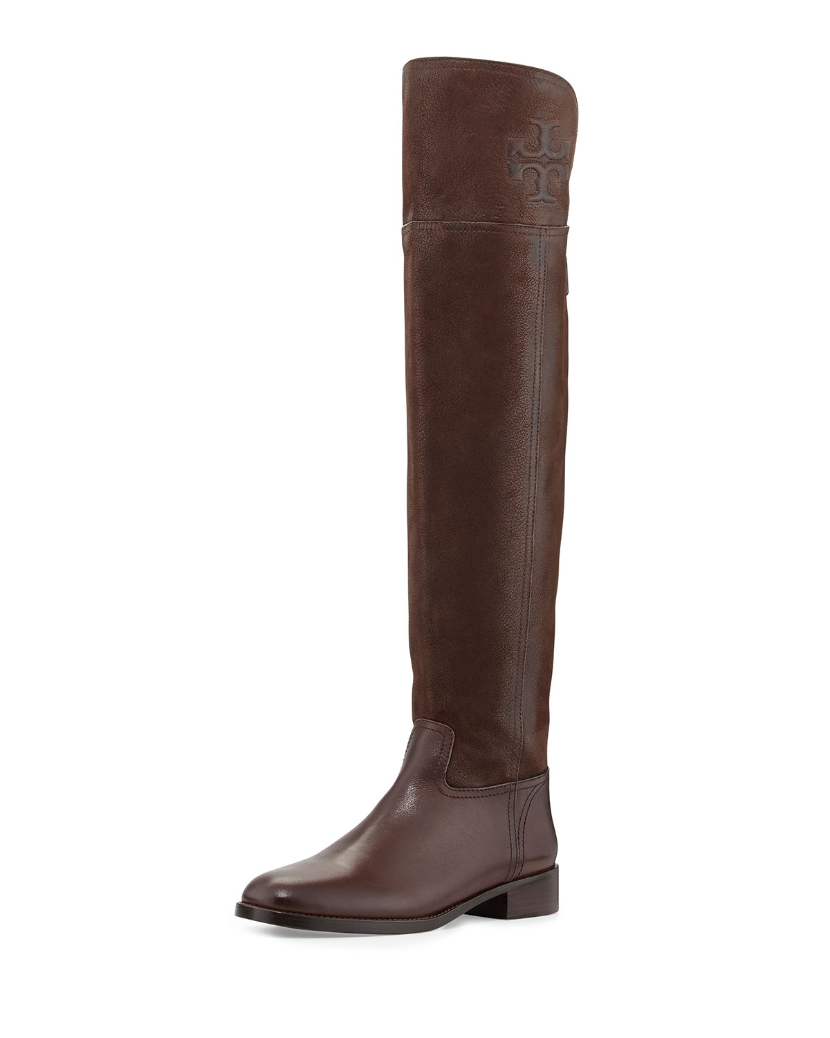 ddc8c7f99 Lyst - Tory Burch Simone Over-The-Knee Logo Boot in Brown