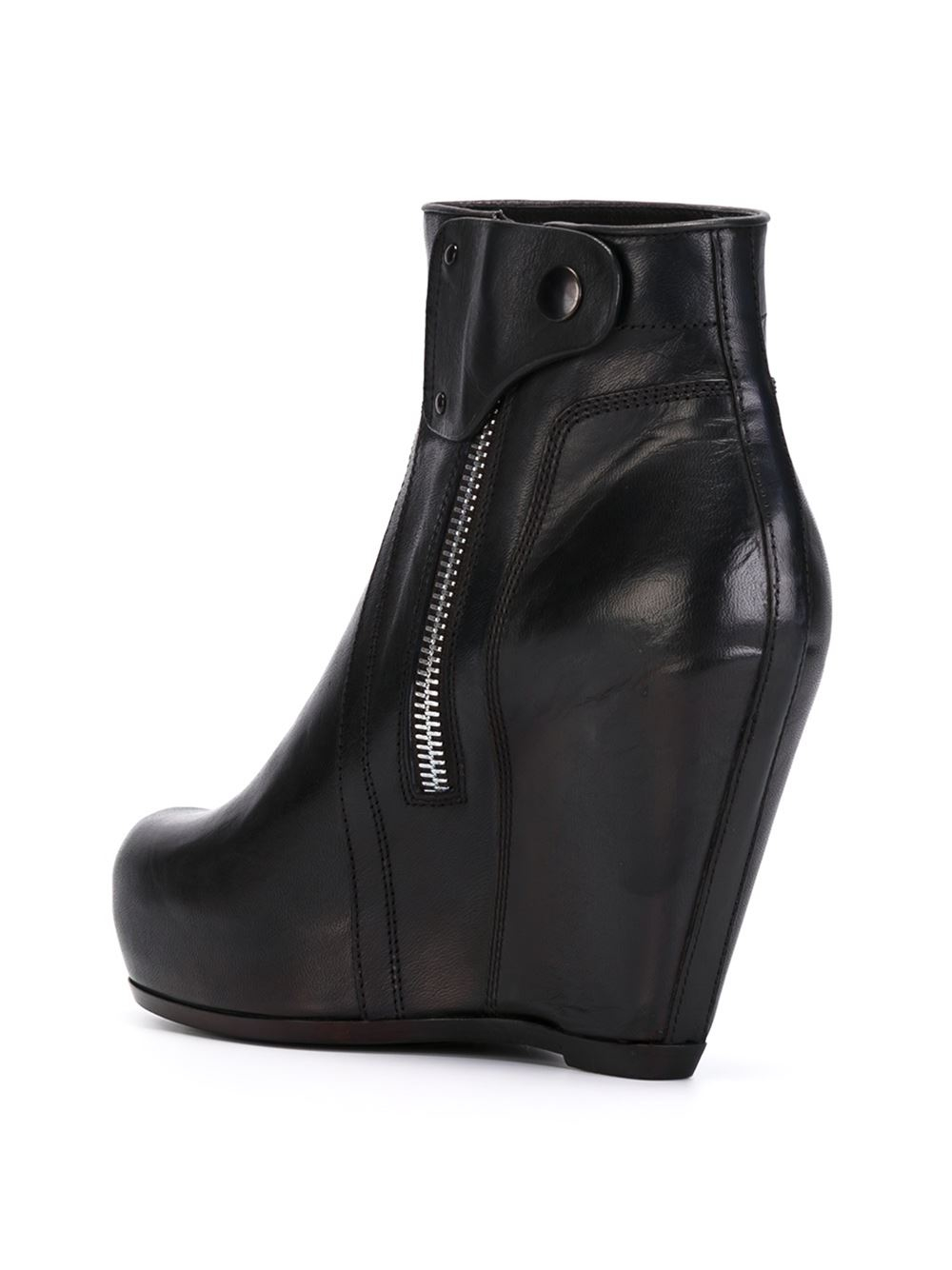 rick owens wedge ankle boots in black lyst