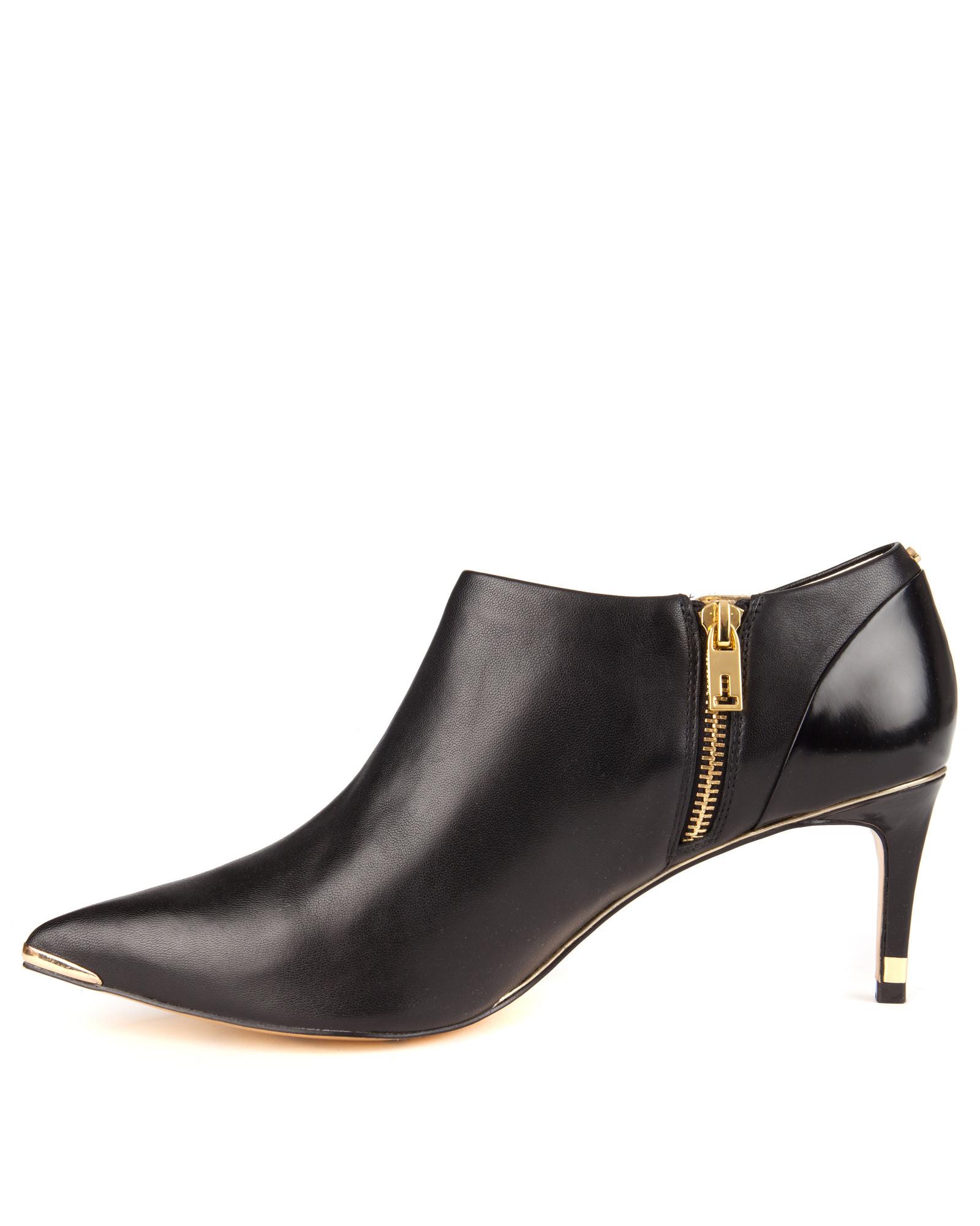 Ted baker Kitten Heel Boots in Black | Lyst
