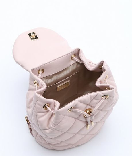 Ferragamo Light Pink Quilted Leather Giuliette Backpack
