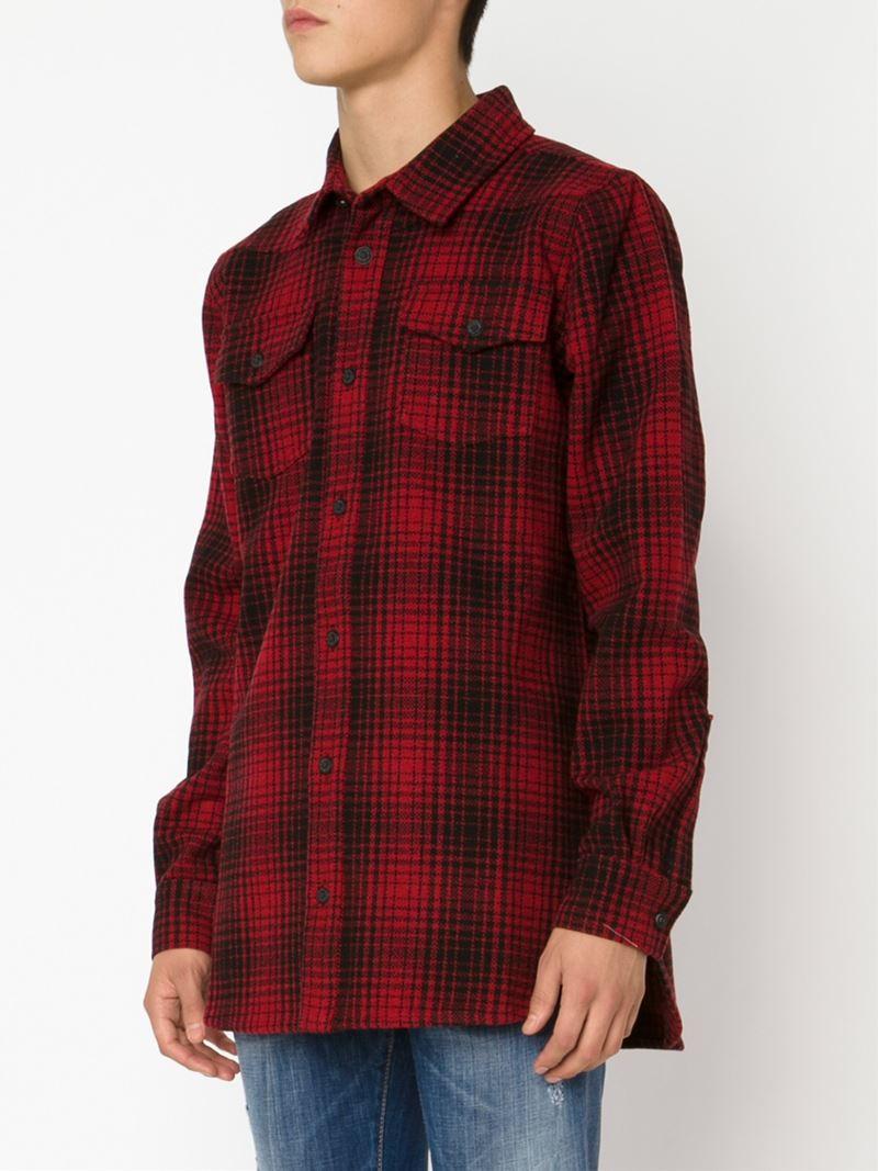 Lyst Off White C O Virgil Abloh Plaid Shirt In Red For Men