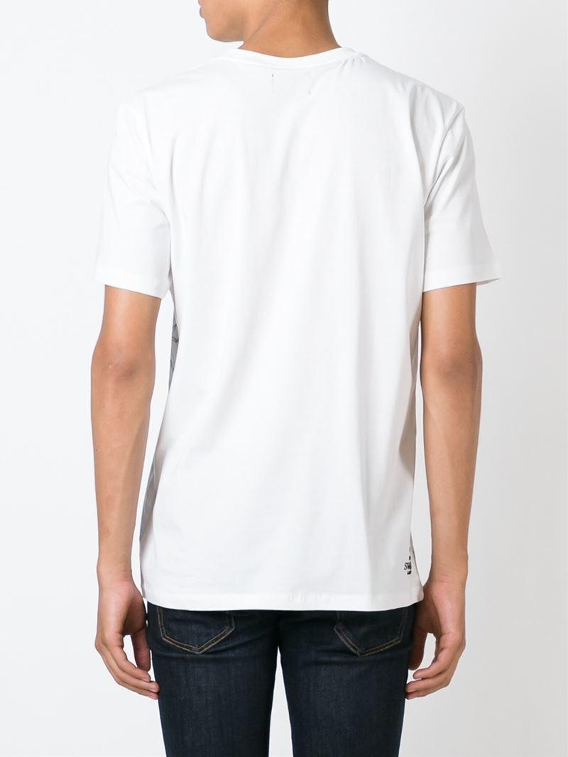 puma printed tshirt in white for men lyst