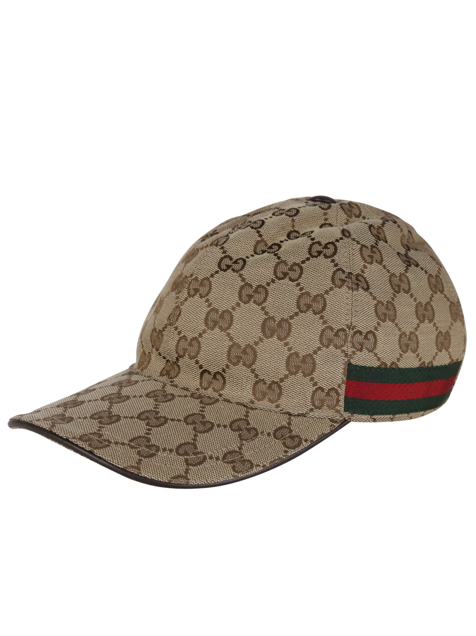 gucci original gg canvas baseball hat with web in beige