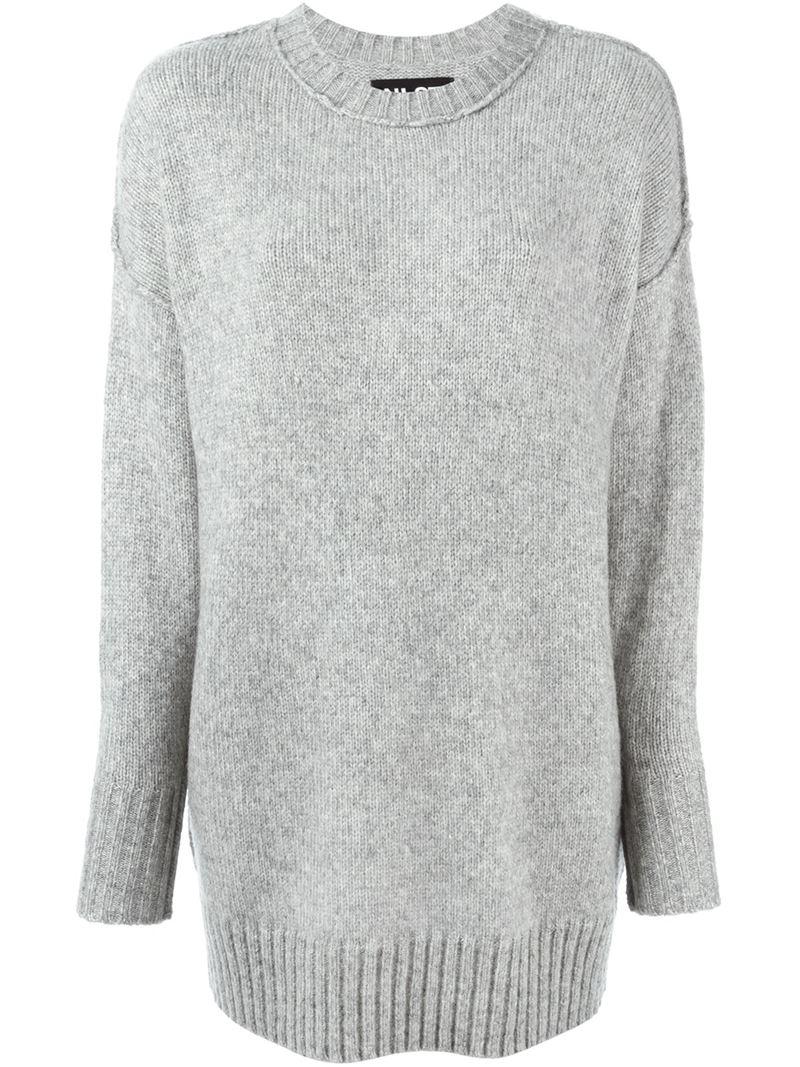 Nlst Oversized Sweater in Gray | Lyst