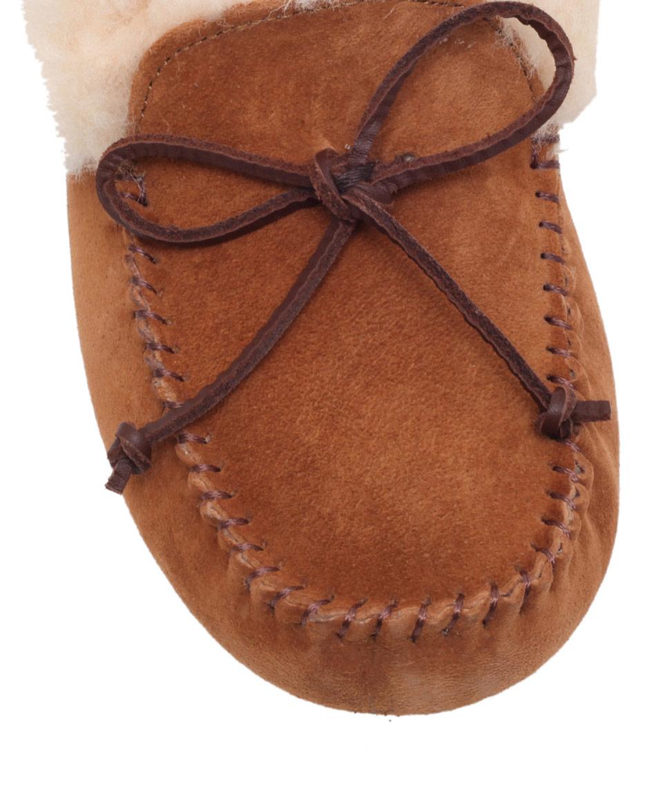 UGG Tan Alena Sheepskin Slipper Boots in Brown