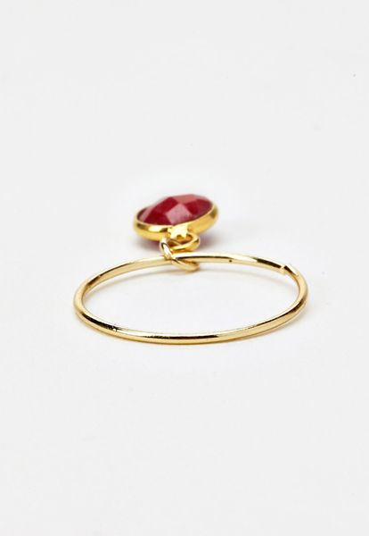 Forever 21 luna norte stella ring in gold gold red lyst for Luna and stella jewelry
