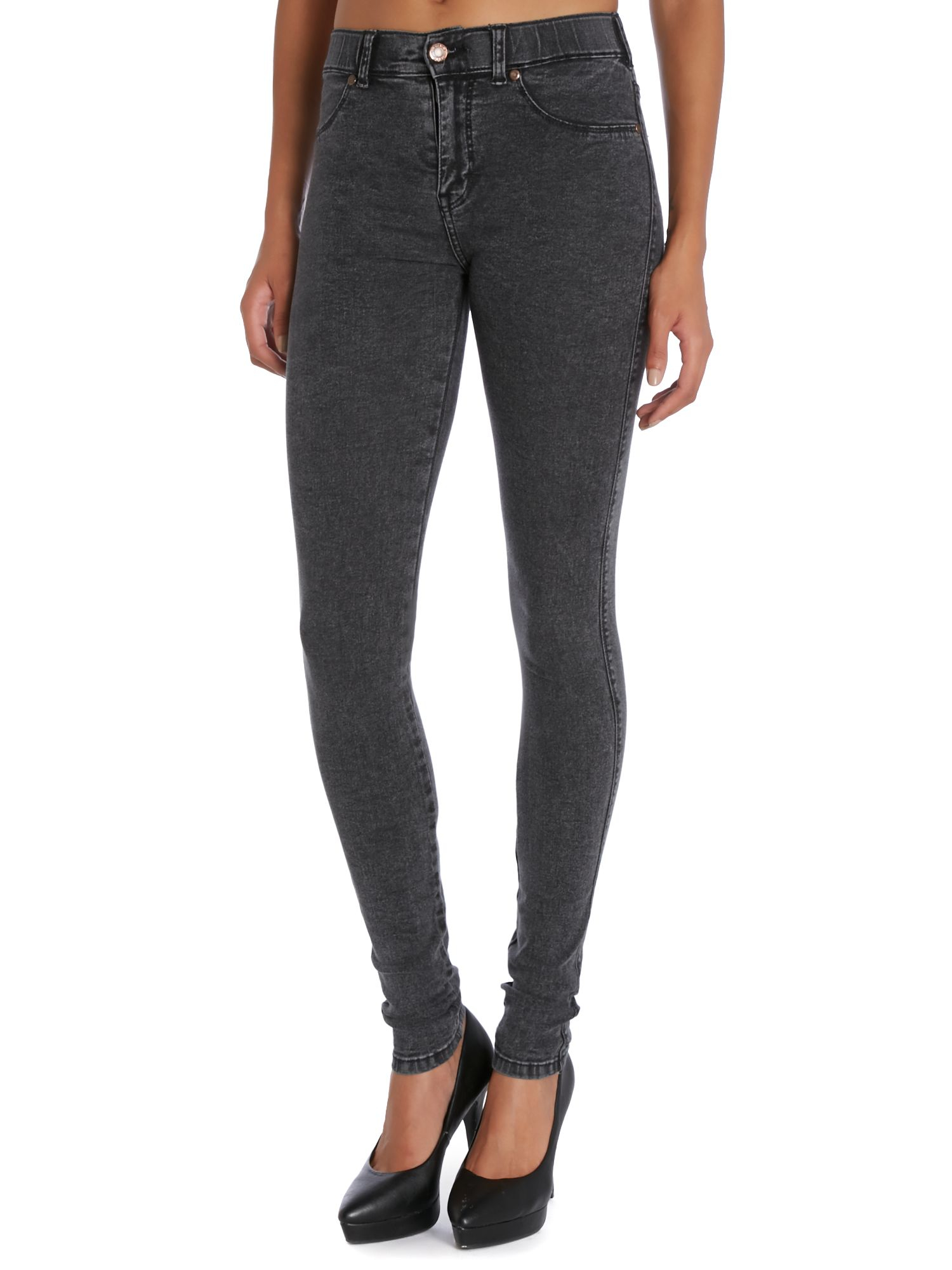 Dr. Denim Denim Plenty High-Rise Skinny Jeans in Black