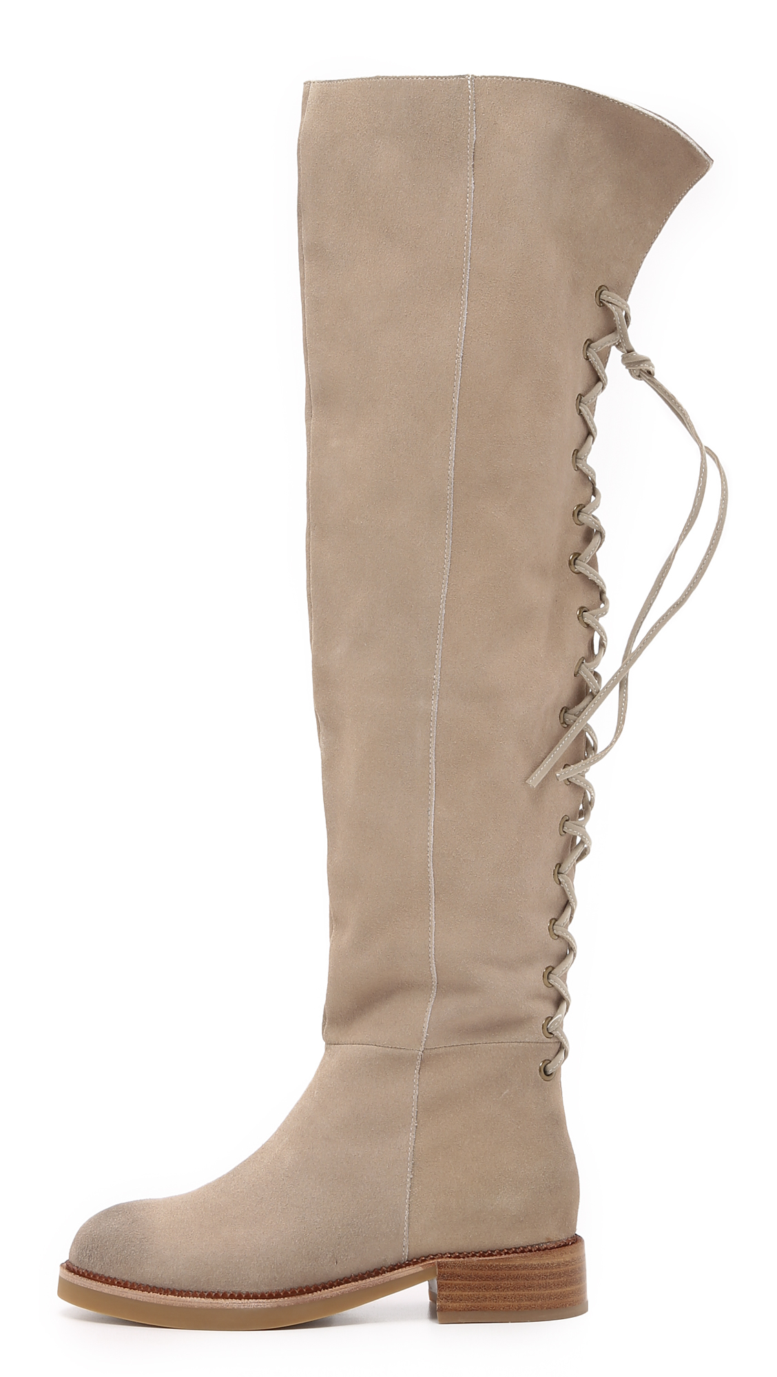 Lyst Jeffrey Campbell Bireli Over The Knee Boots In Natural