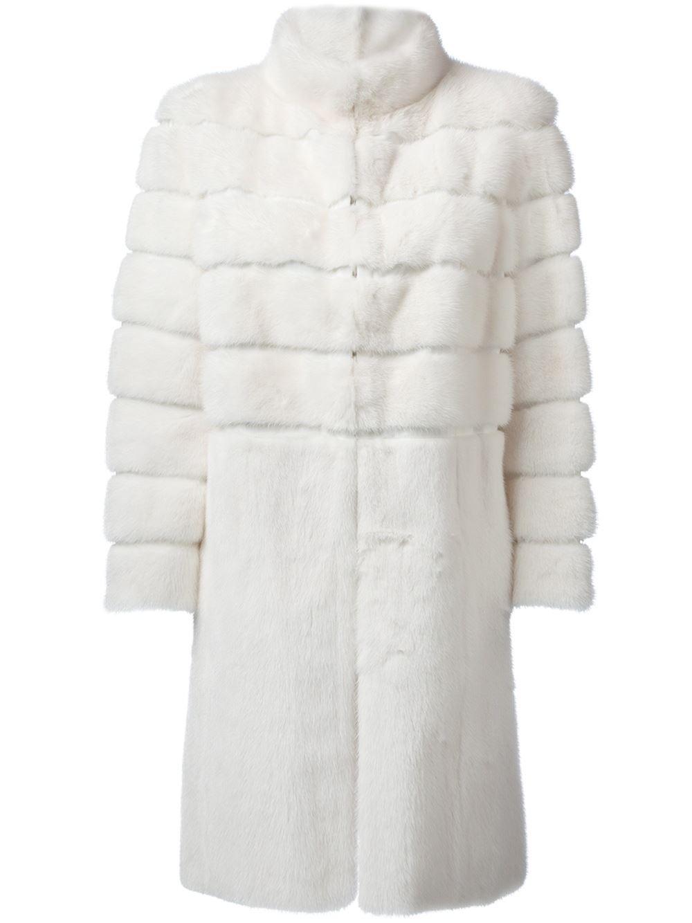 Lyst - Fendi Fur Coat in White
