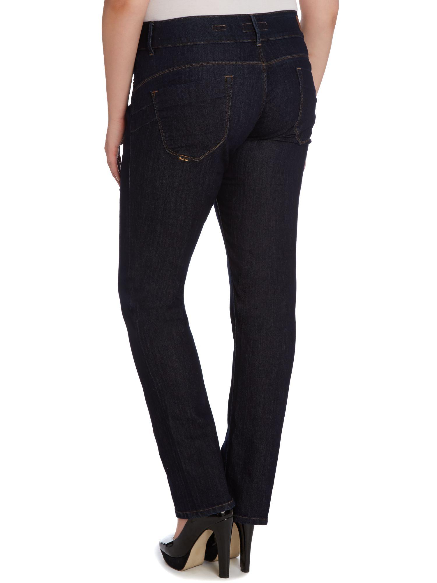 salsa blue plus size secret push in slim leg jeans lyst. Black Bedroom Furniture Sets. Home Design Ideas