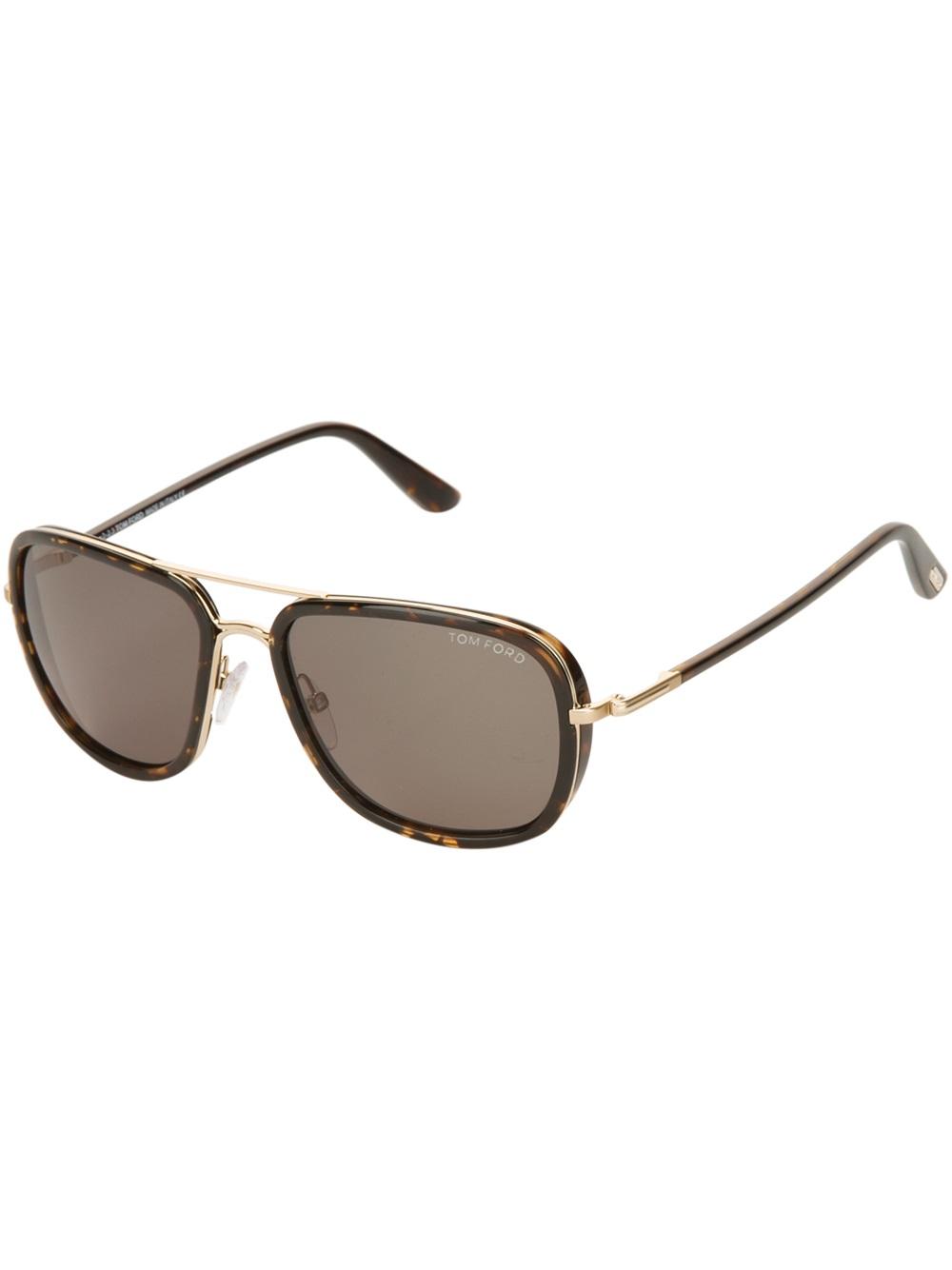 c9cb5ff0e8 Lyst - Tom Ford Square Frame Sunglasses in Brown for Men