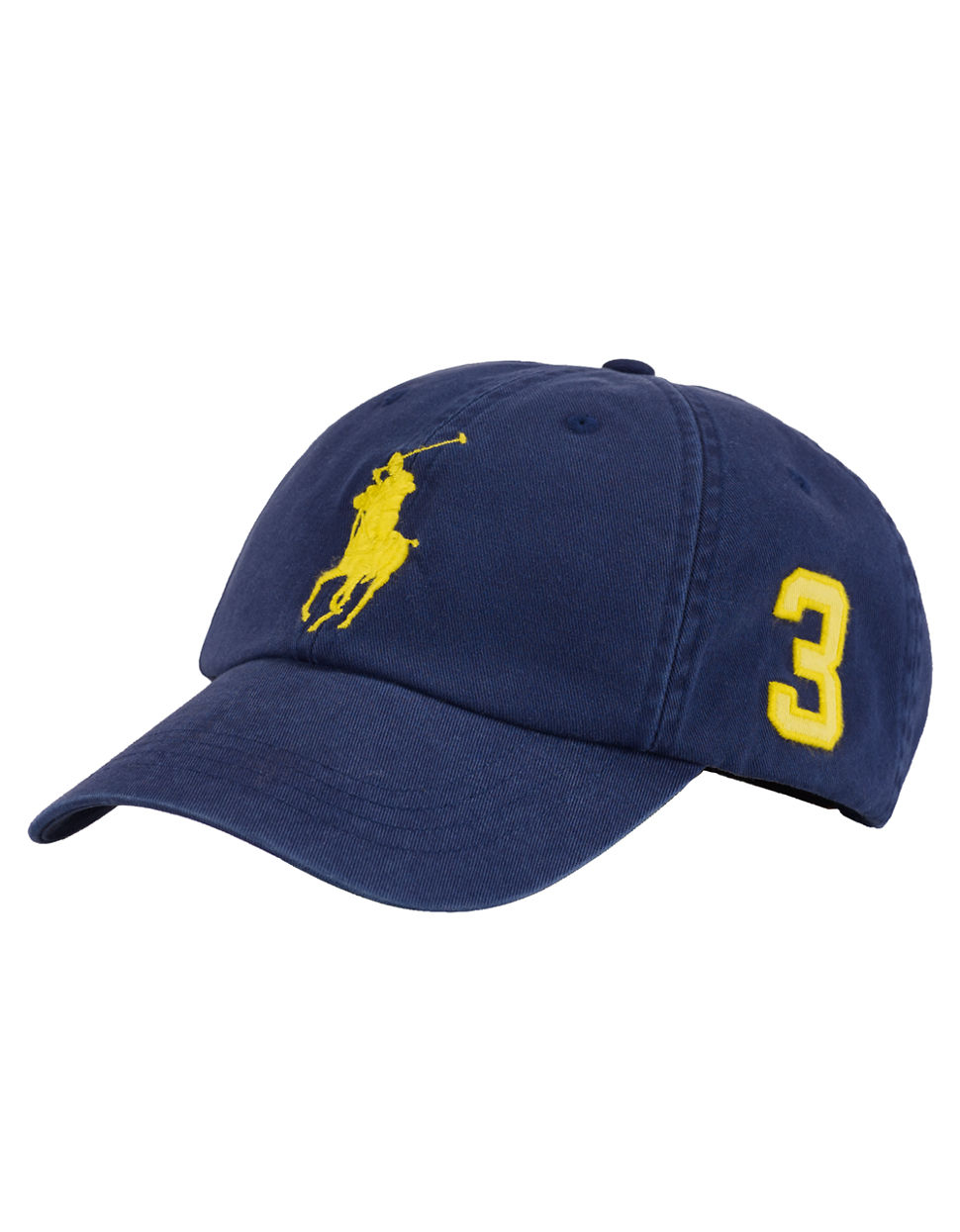 polo ralph lauren classic chino sports cap in blue for men navy lemon. Black Bedroom Furniture Sets. Home Design Ideas