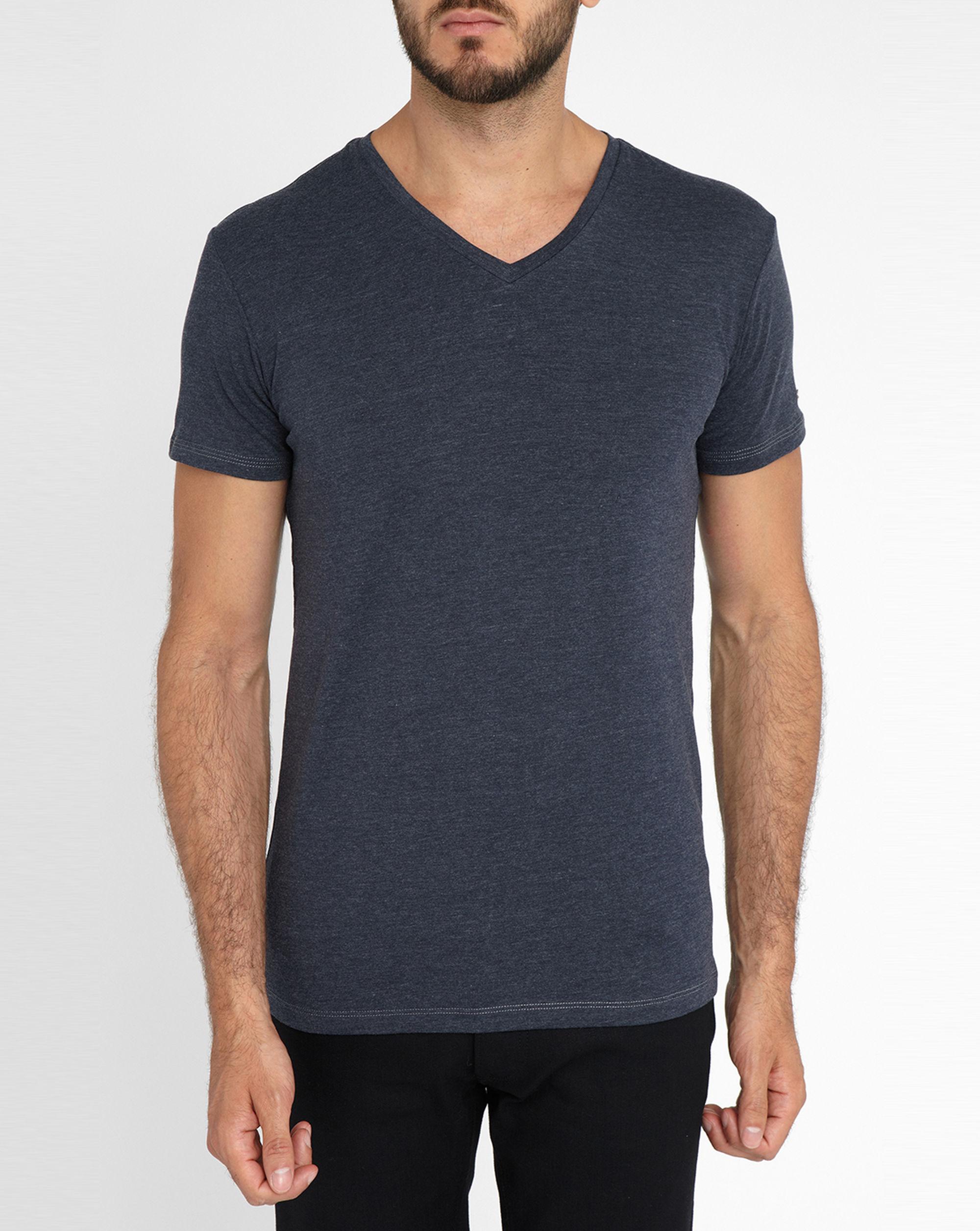 Diesel Charcoal Michael V-neck T-shirt in Gray for Men | Lyst