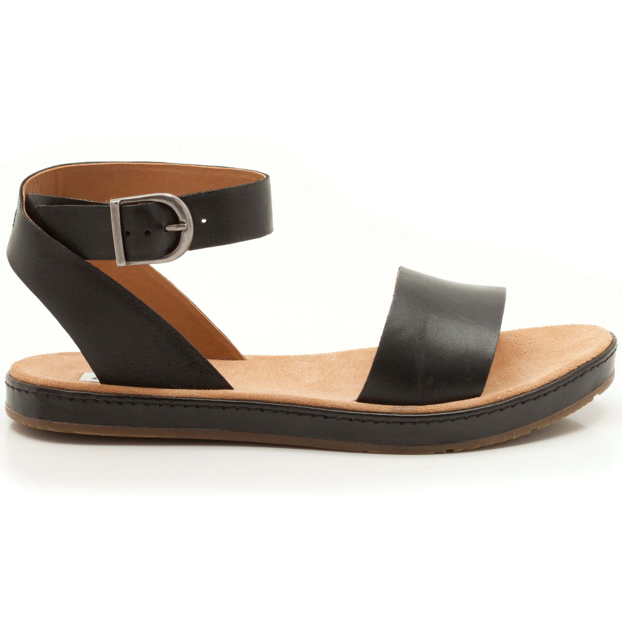 e8803fe5f Clarks Romantic Moon Leather Sandals in Black - Lyst