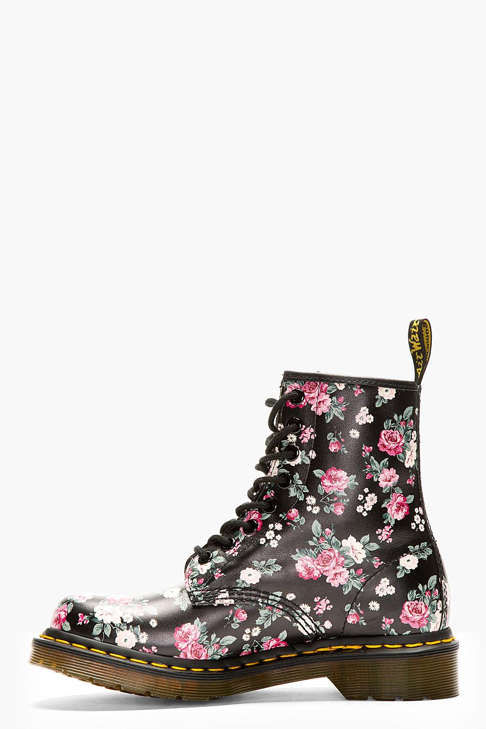 Dr Martens Boot Shoes Floral Lace