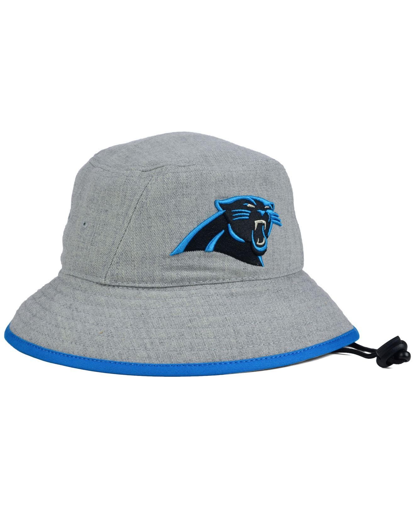 93d4d528835b2 ... czech lyst ktz carolina panthers nfl heather gray bucket hat in gray  for men 64566 2cf06