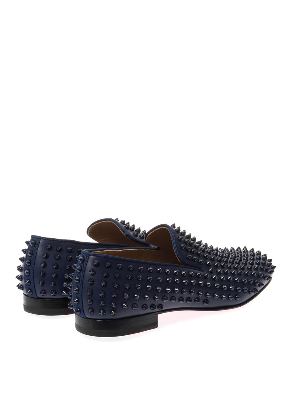 christian louboutin pink studded pumps - Christian louboutin Rollerboy Studded Loafers in Blue for Men | Lyst