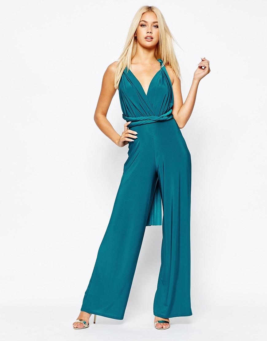8ffdaa2d83f Lyst - Missguided Multiway Jumpsuit in Blue