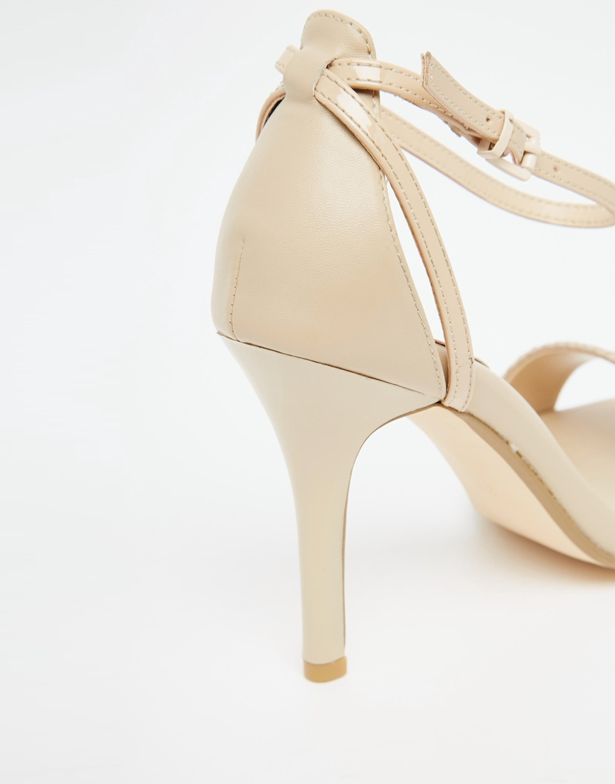55ad0af00d Dune Madeira Nude Snake Effect Barely There Heeled Sandals in ...