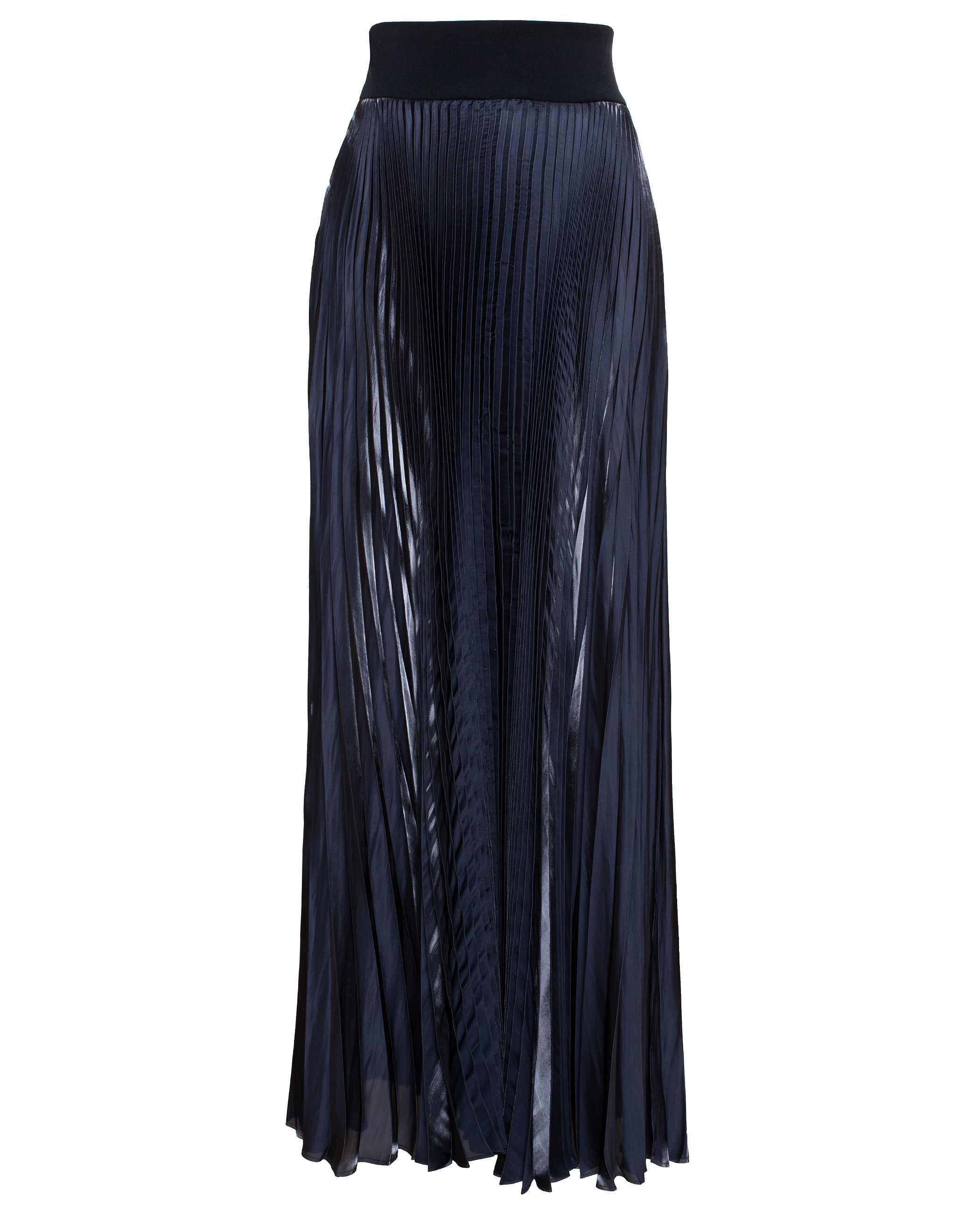 galvan pleated maxi skirt in black lyst