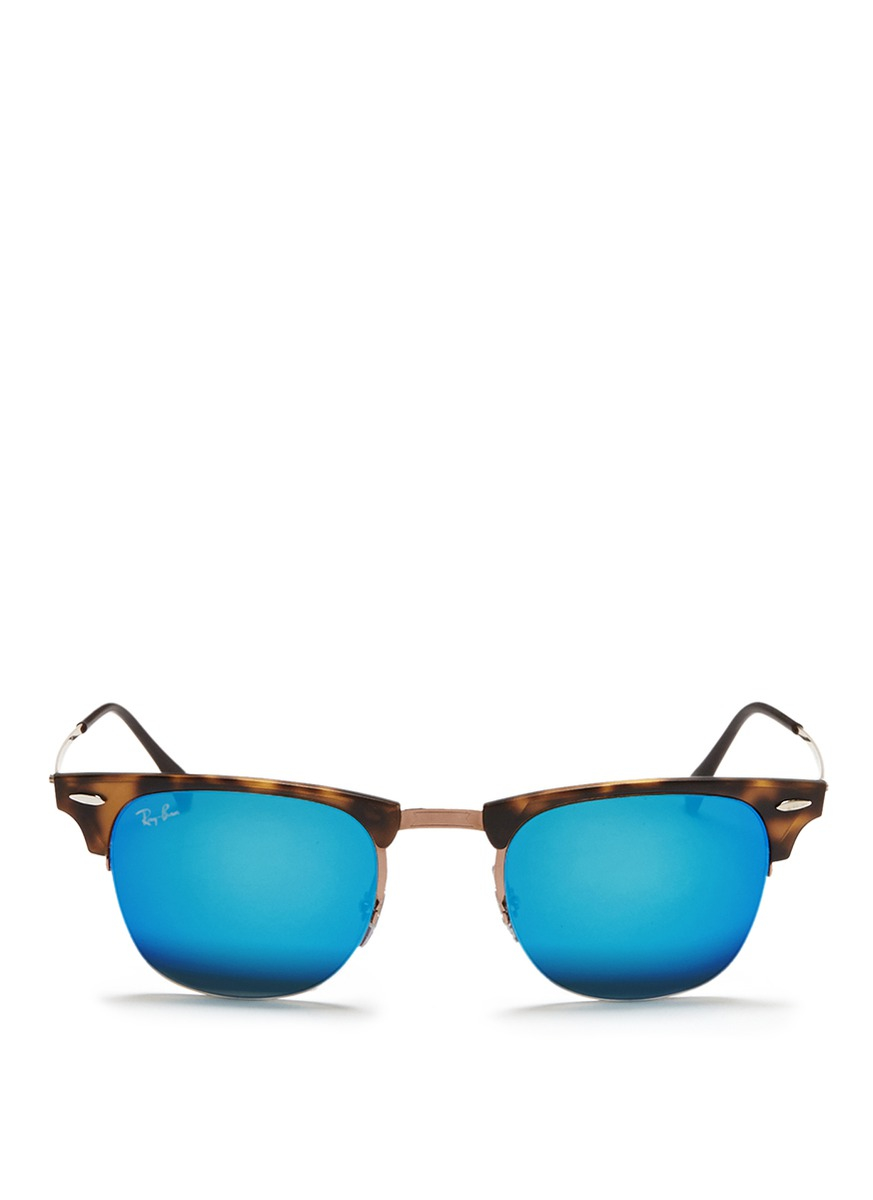 blue raybans k176  ray ban clubmaster sky blue
