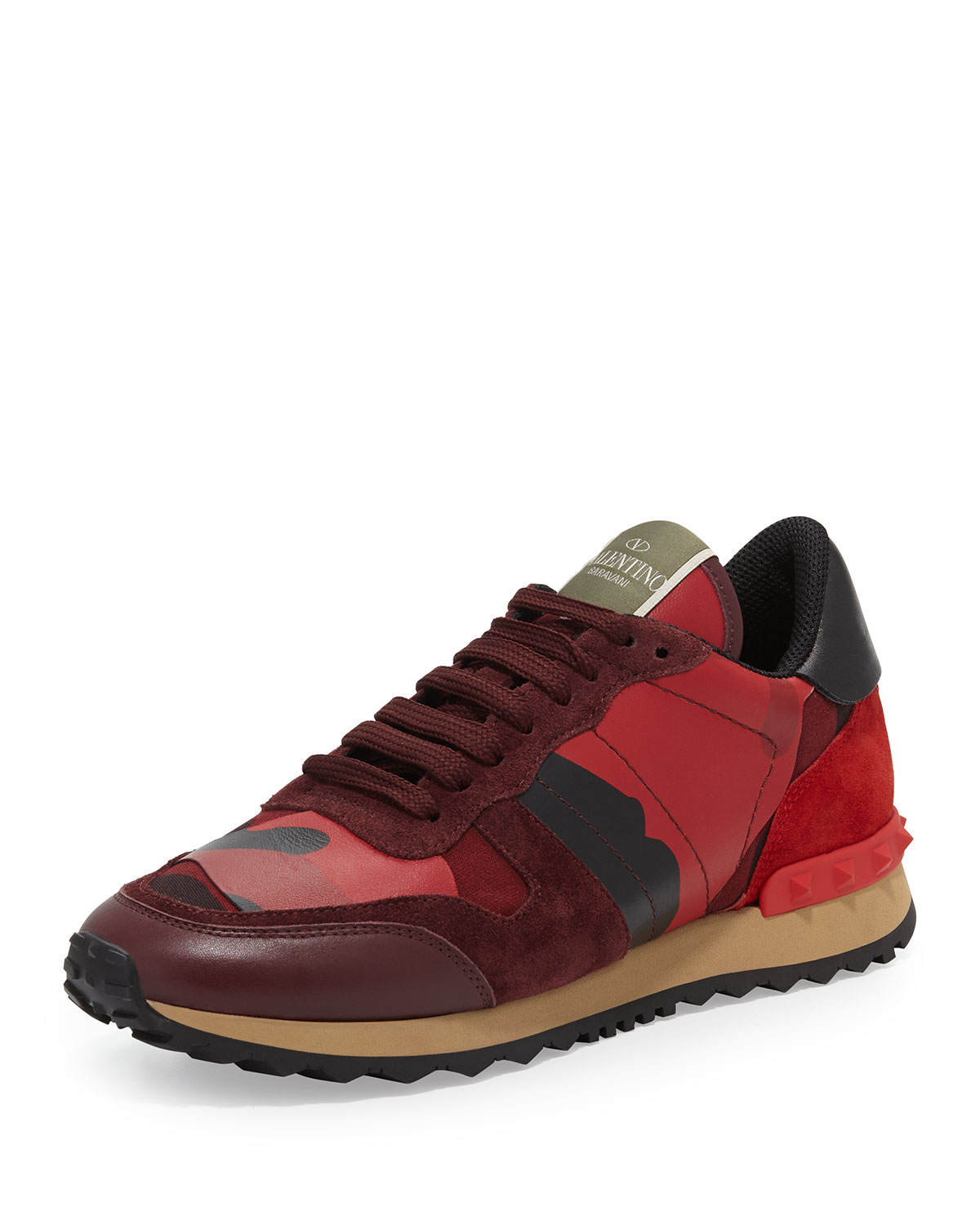 valentino 39 rockrunner 39 sneakers in red for men lyst. Black Bedroom Furniture Sets. Home Design Ideas