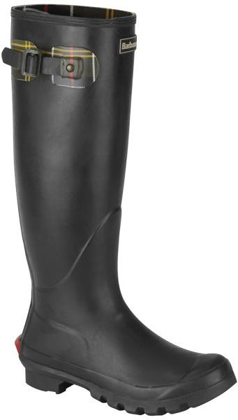 Barbour womens beagle wellington boots in black for men lyst for Bogs classic mid le jardin