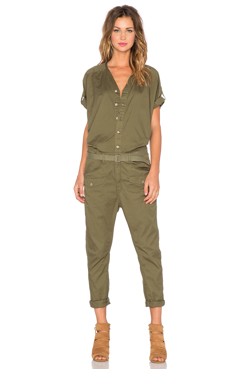 g star raw lorin jumpsuit in green lyst. Black Bedroom Furniture Sets. Home Design Ideas