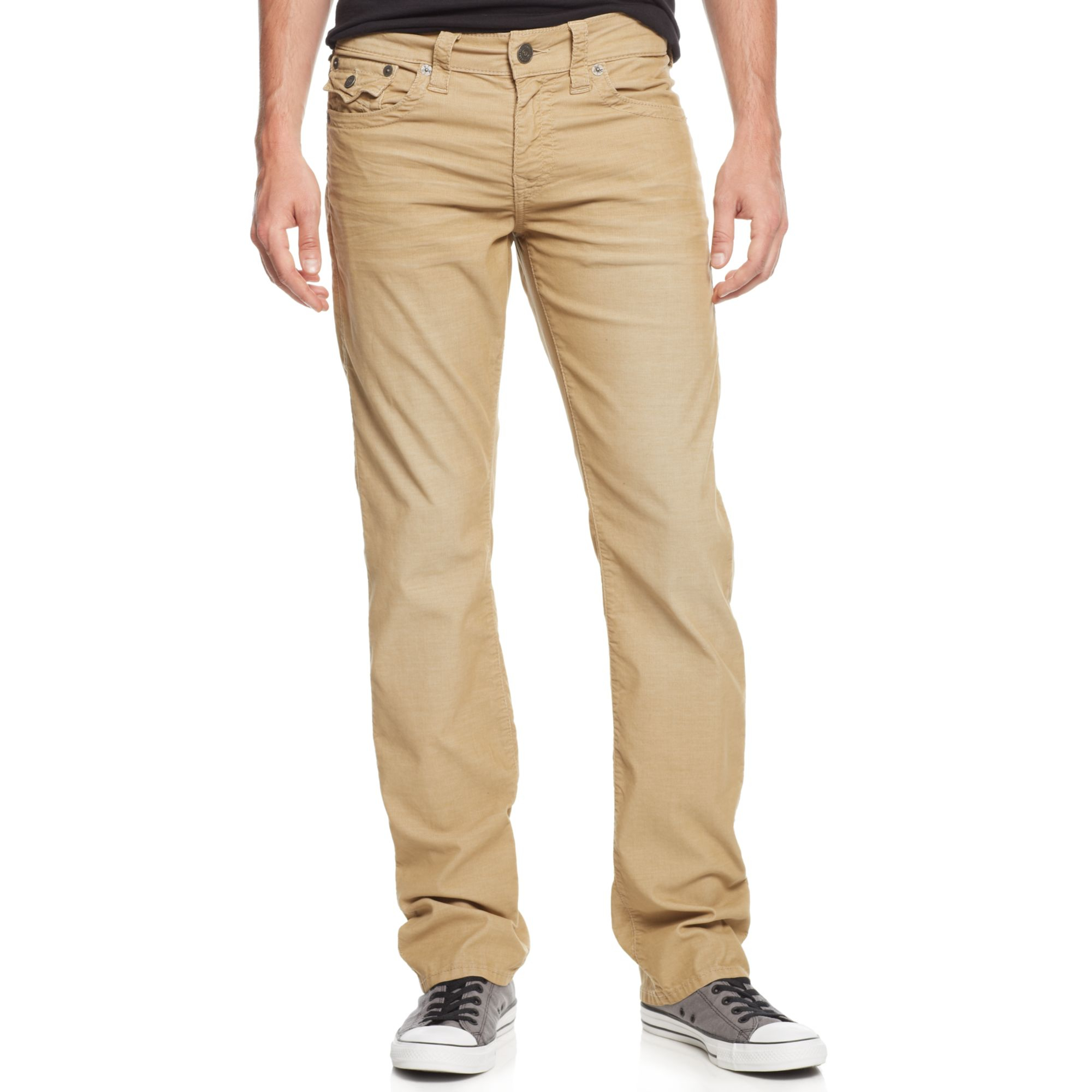 True religion Men's Ricky Relaxed Straight Fit Corduroy ...
