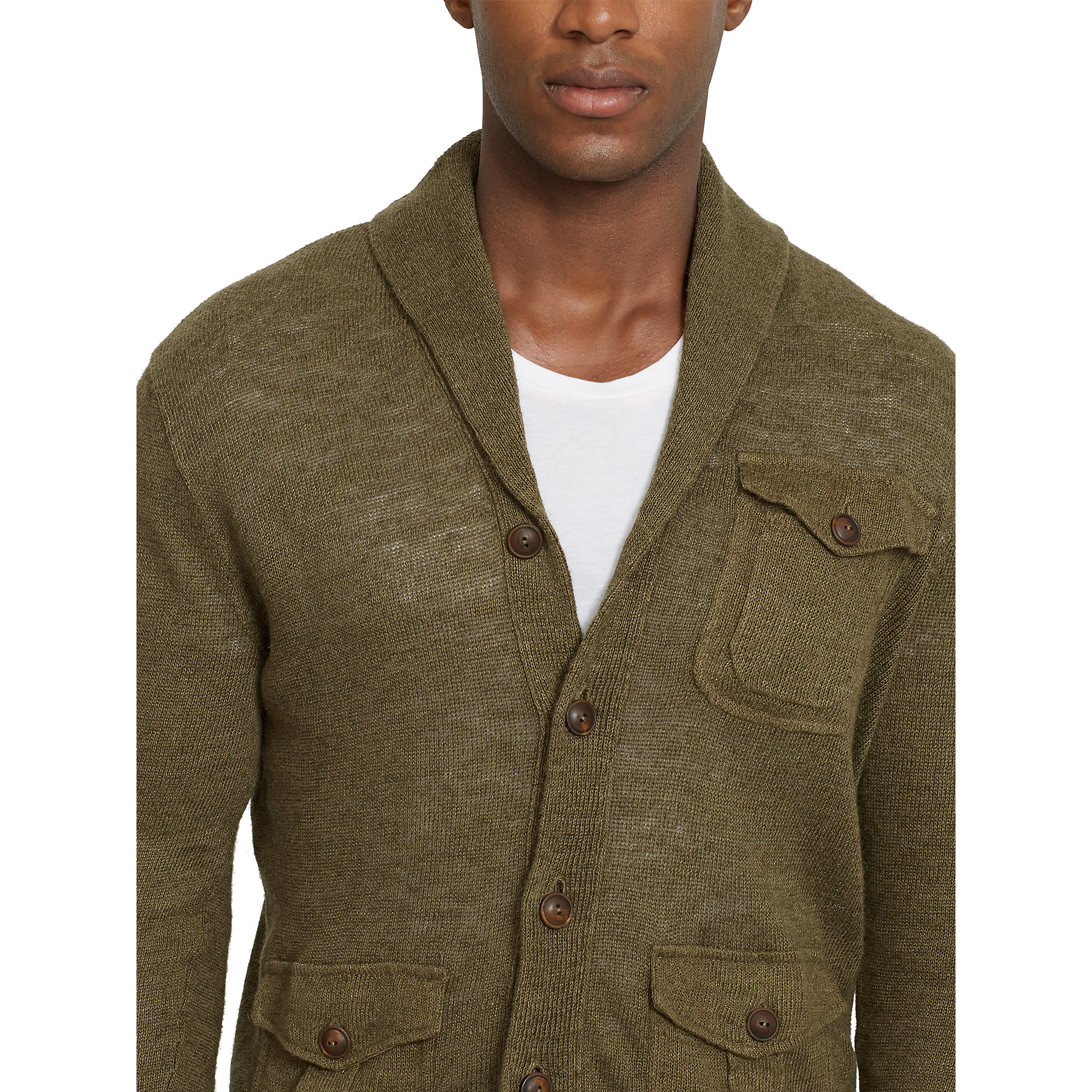 lyst polo ralph lauren thicket sweater jacket in green. Black Bedroom Furniture Sets. Home Design Ideas