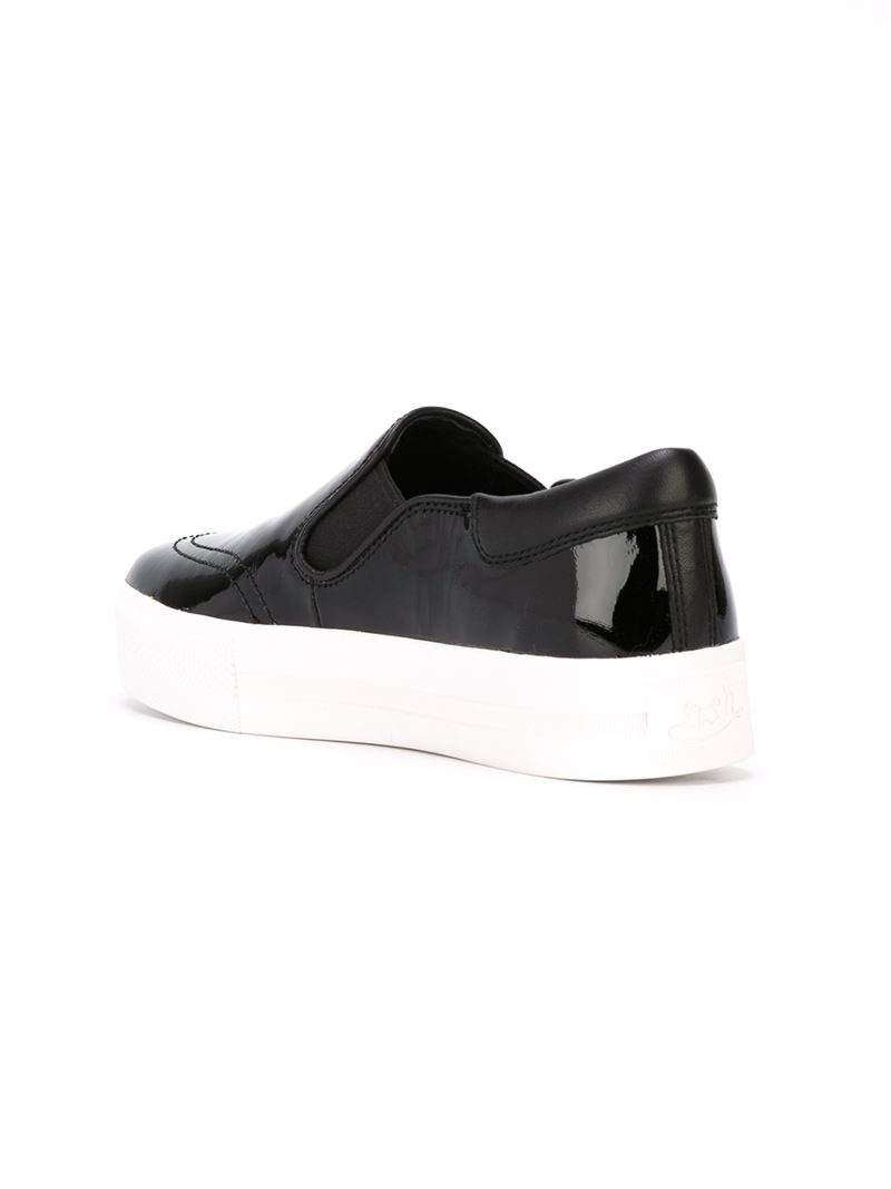 ash slip on sneakers in black lyst