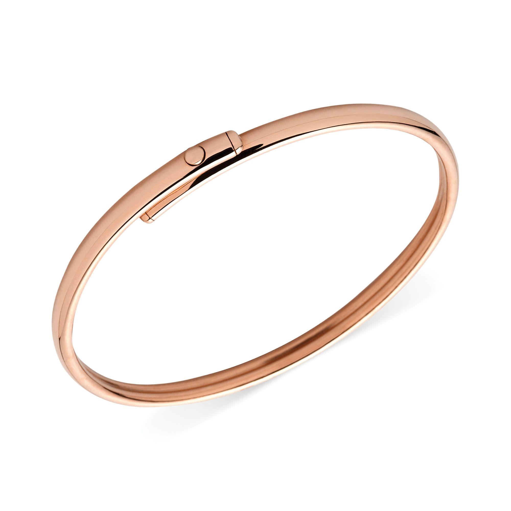 fossil rose goldtone flex bangle bracelet in metallic lyst. Black Bedroom Furniture Sets. Home Design Ideas