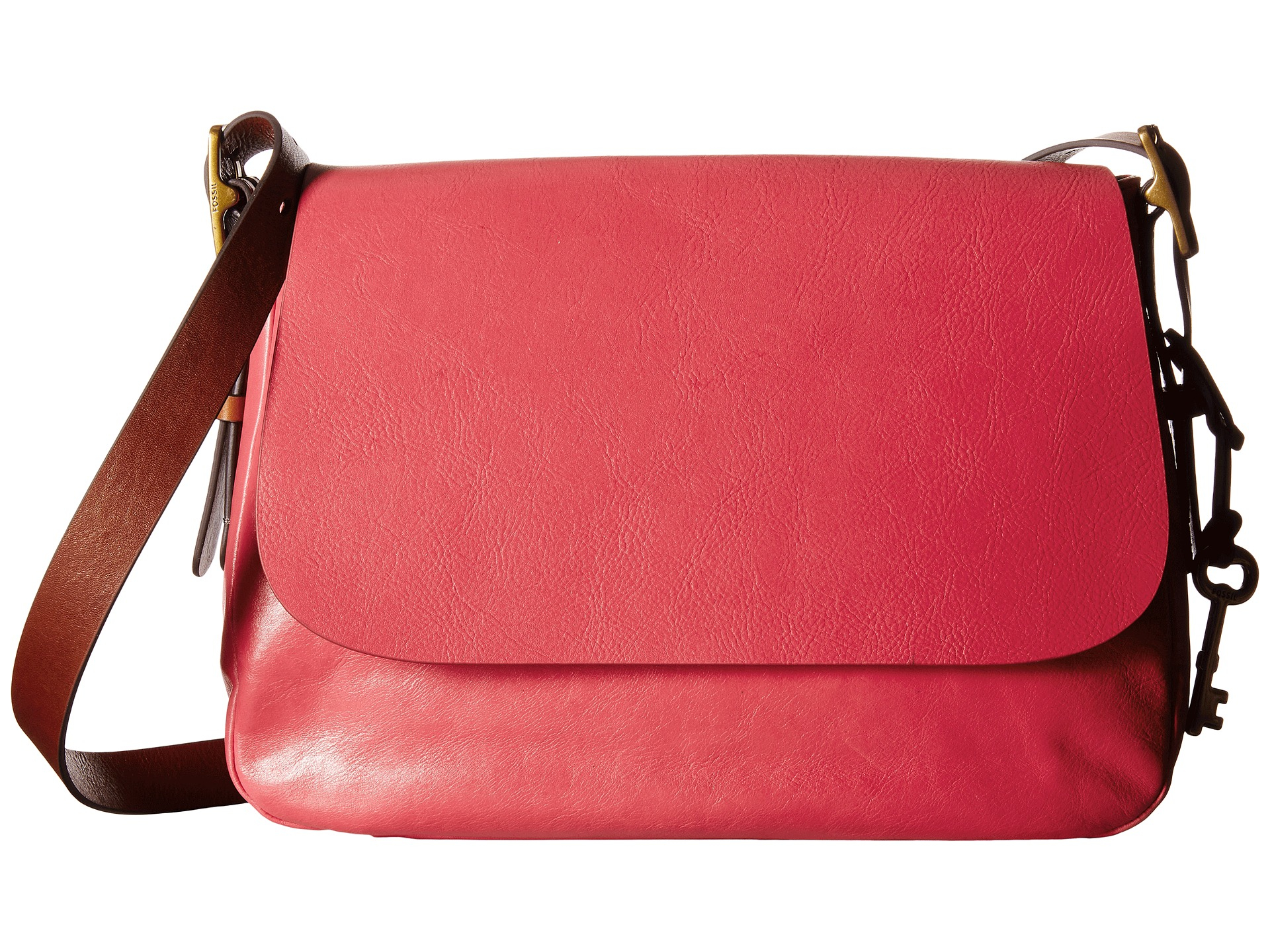 b5a5a8481eeb6 Lyst - Fossil Harper Large Saddle Crossbody in Red