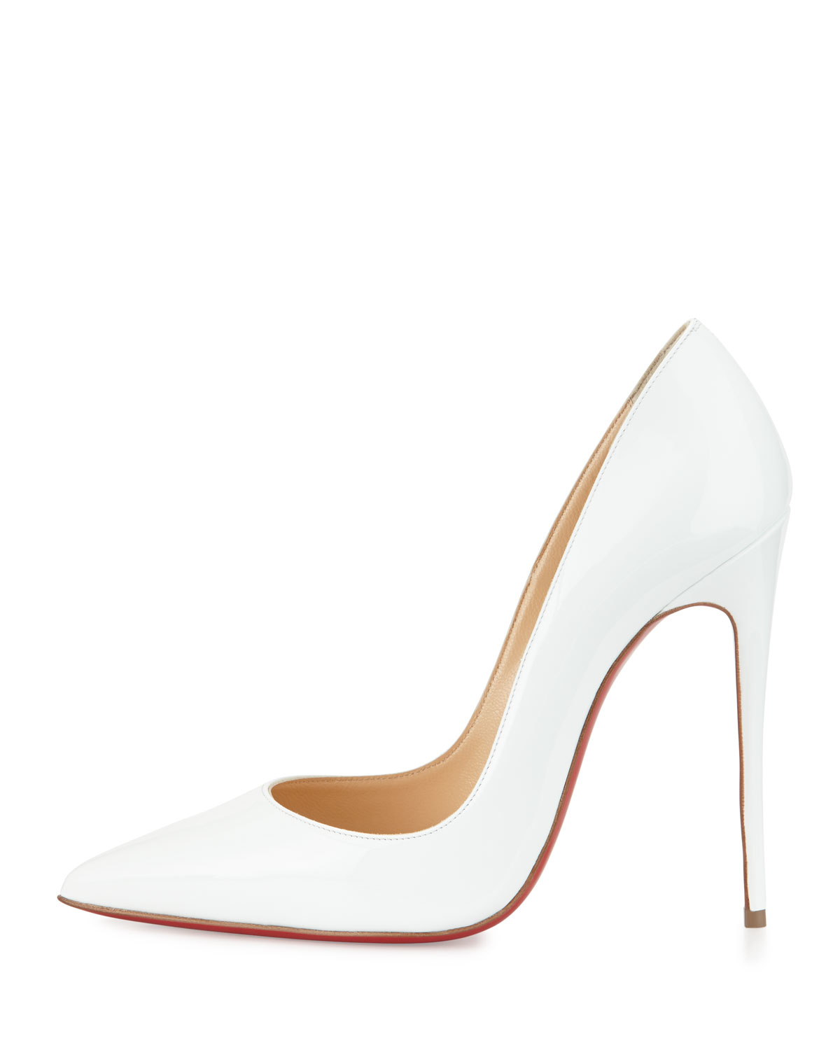 christian louboutin wawy dolly patent squiggly-heel red sole pump