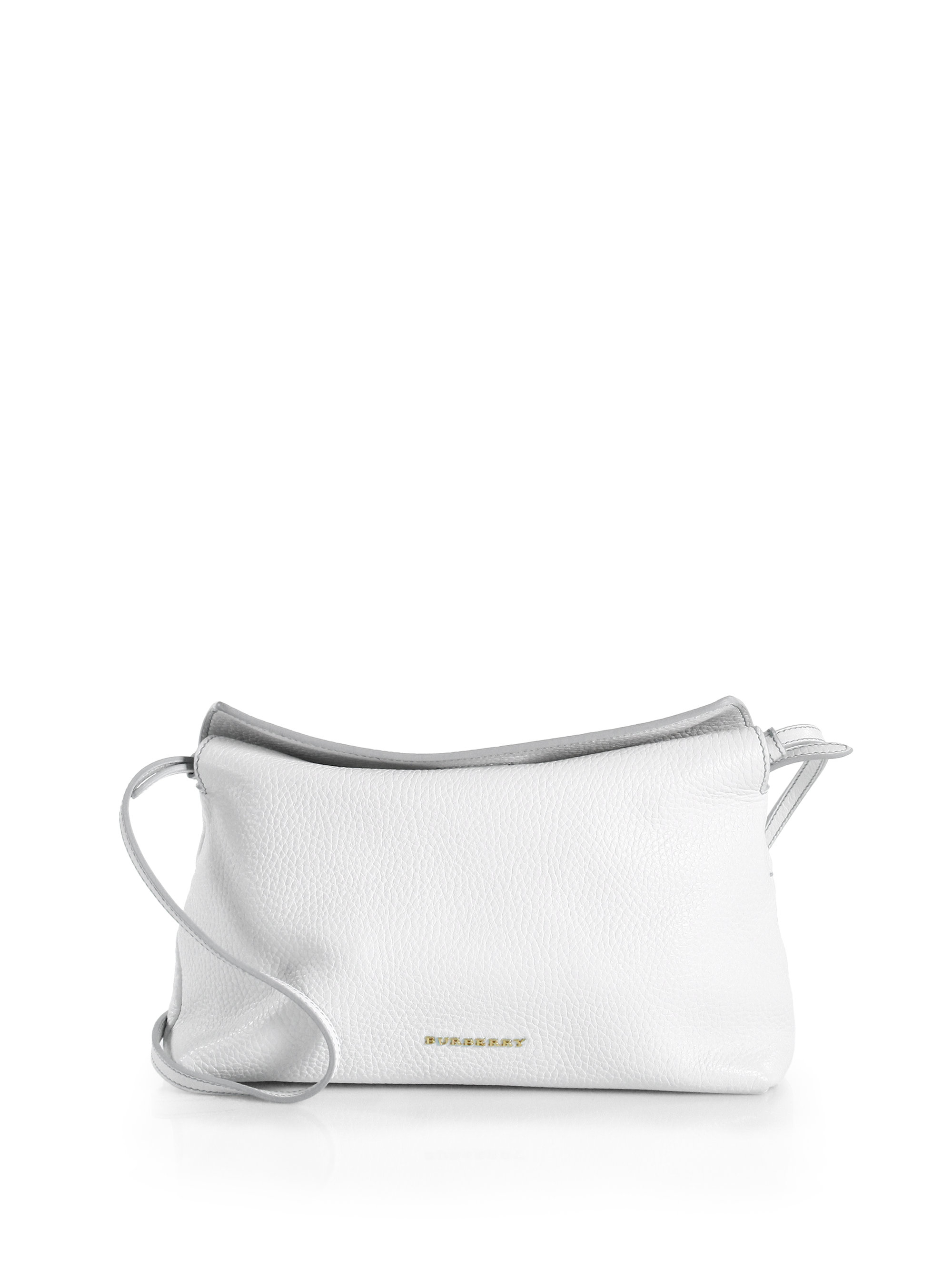 267b7c55ea0b Lyst - Burberry Leah Small Shoulder Bag in White