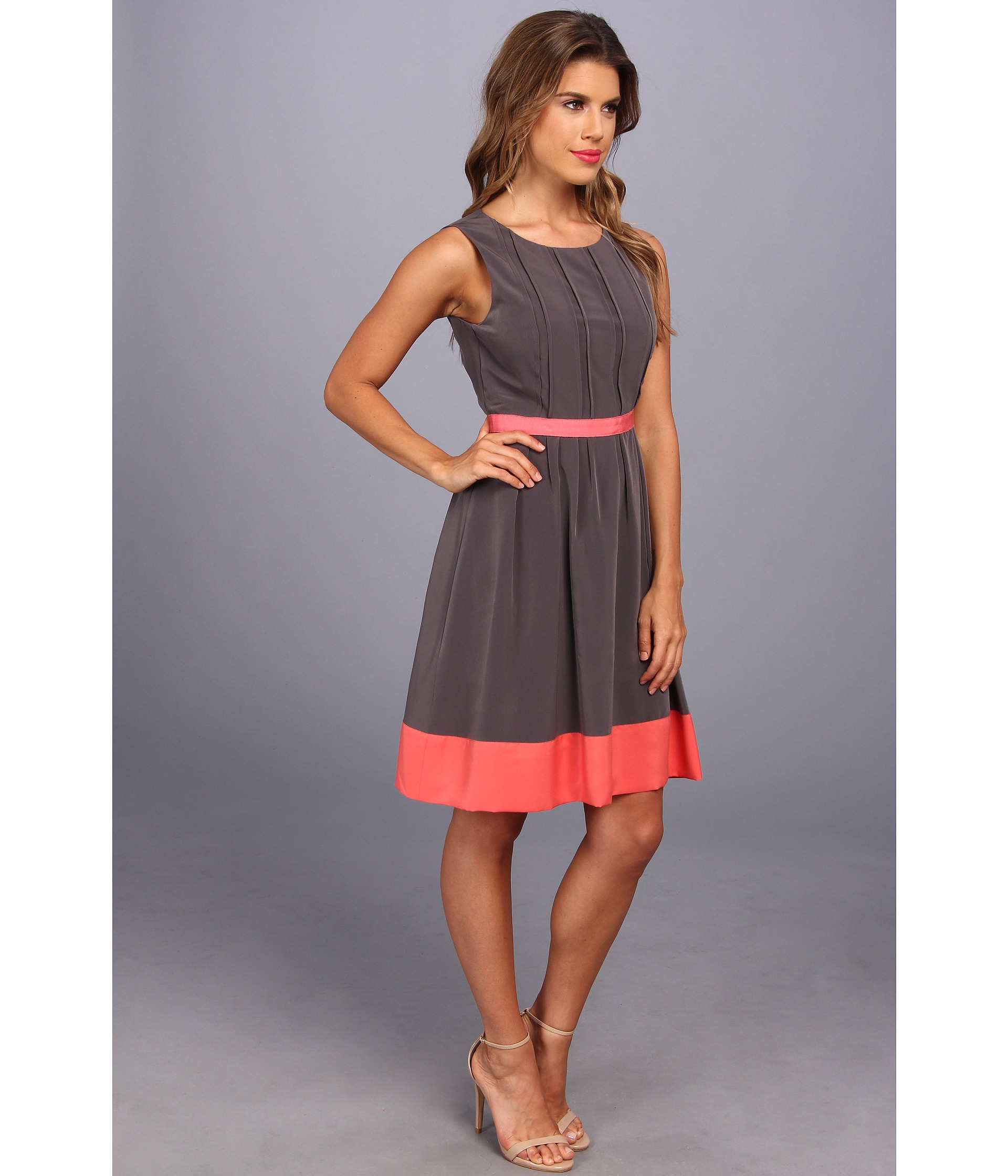 Jessica Simpson Paper Bag Waist Dress With Contrast Detail