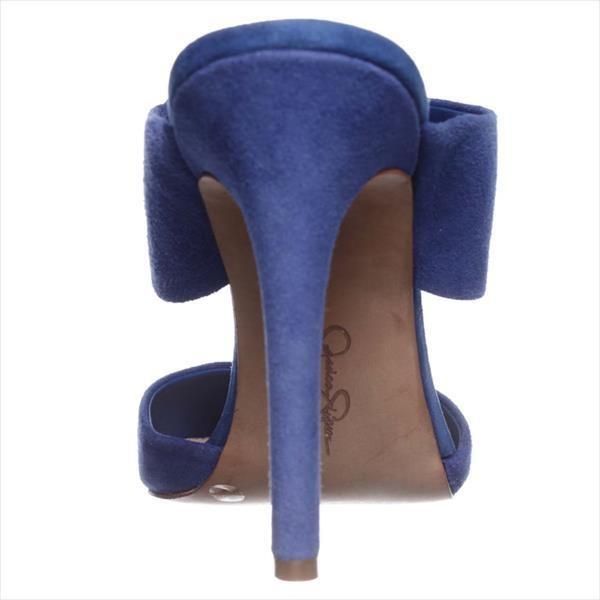 Adrienne Vittadini Shoes Blue Suede Mule
