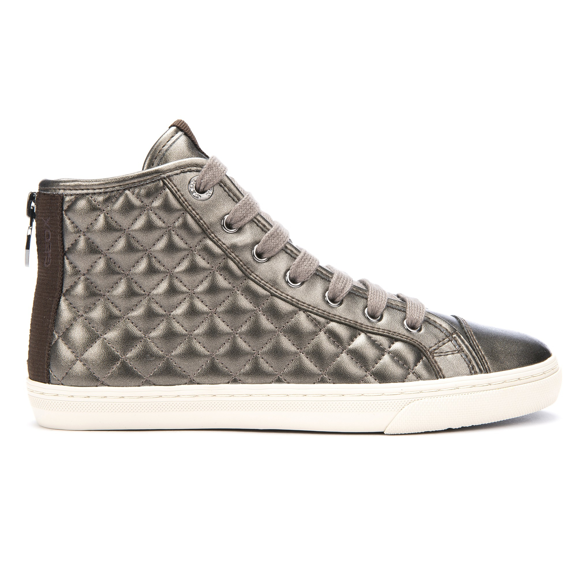 0746d5c3de4 Geox New Club Quilted High Top Trainers in Metallic for Men - Lyst