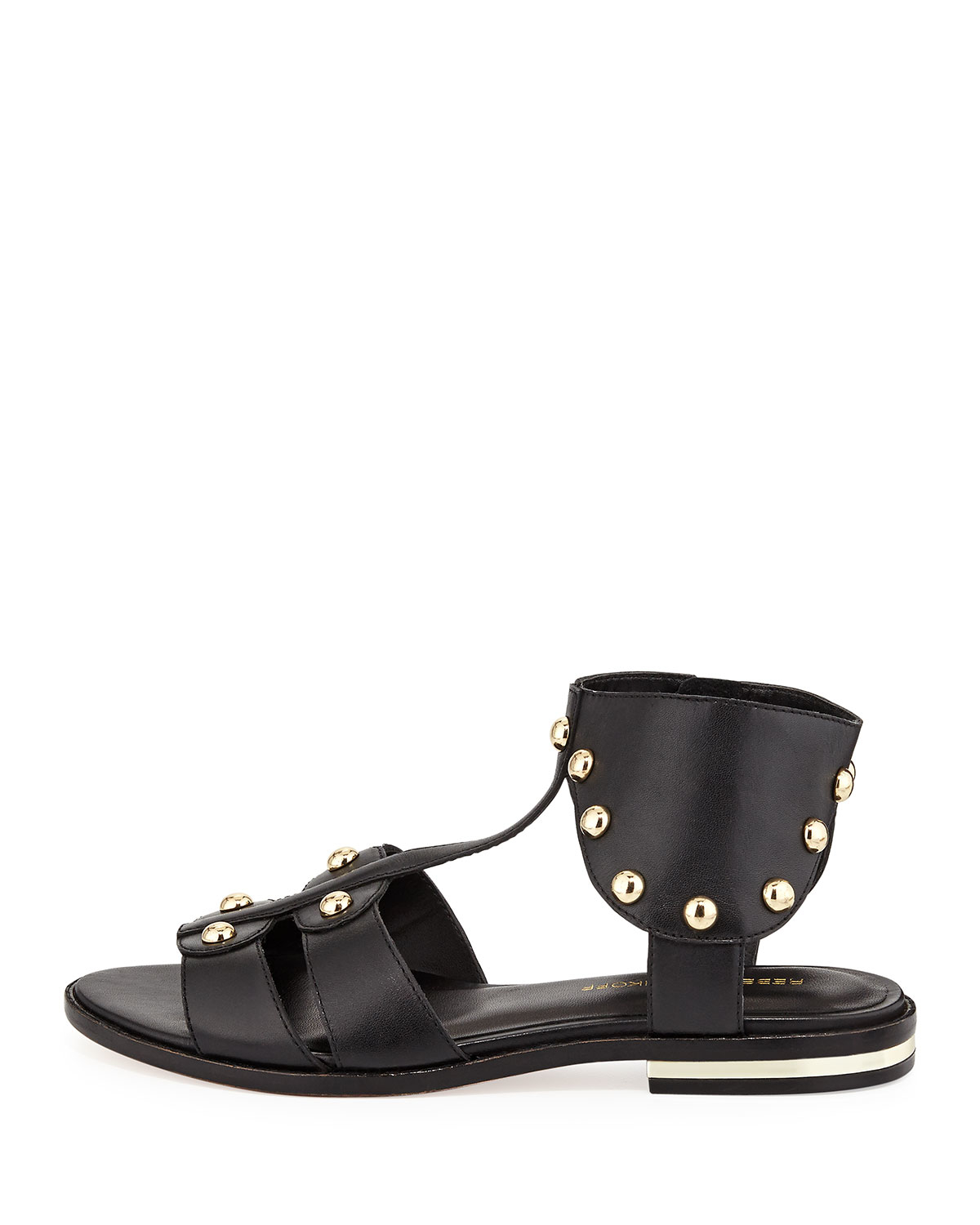 Lyst Rebecca Minkoff Shay Studded Leather Sandal In Black