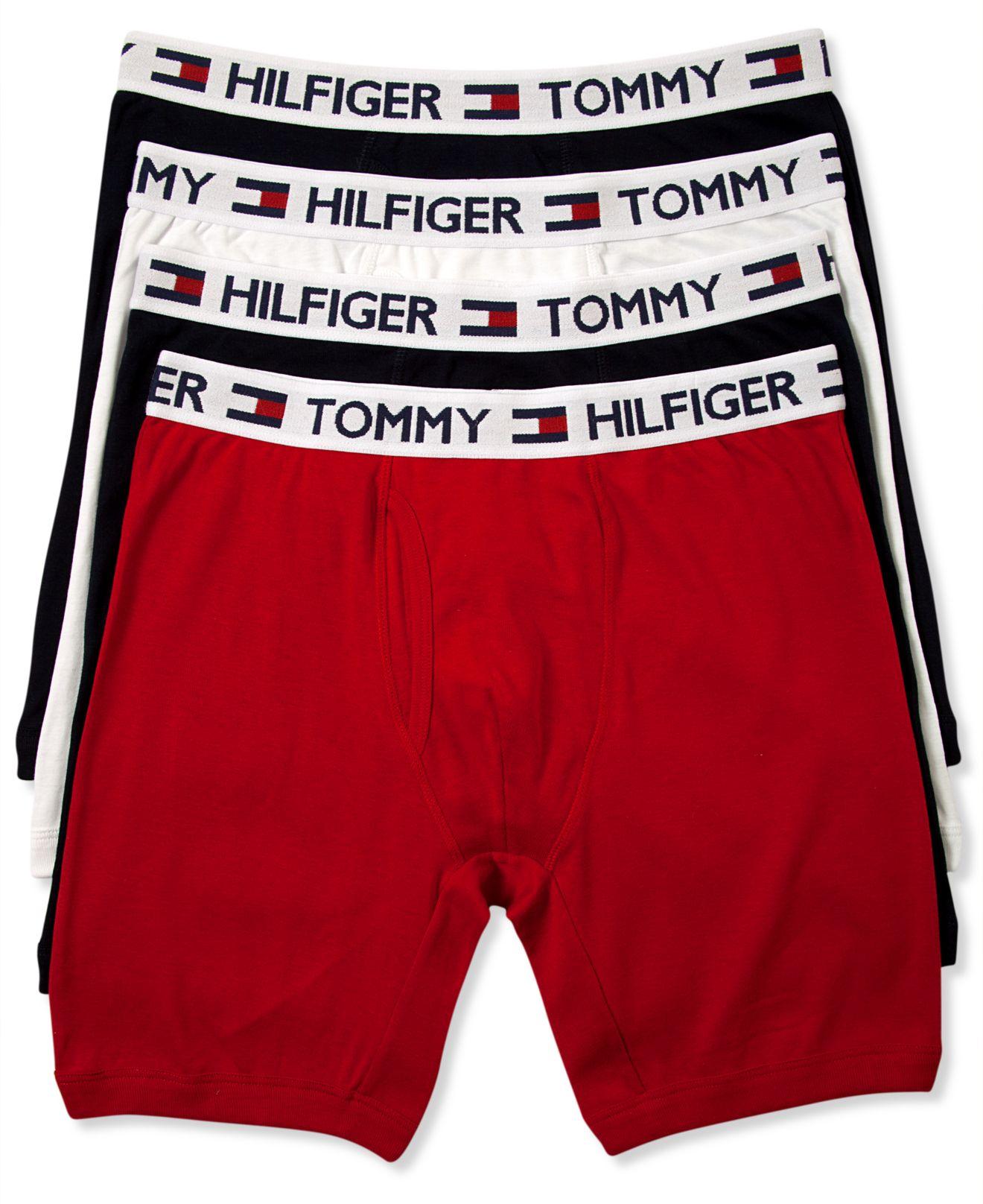 tommy hilfiger cotton boxer brief 4 pack for men lyst. Black Bedroom Furniture Sets. Home Design Ideas
