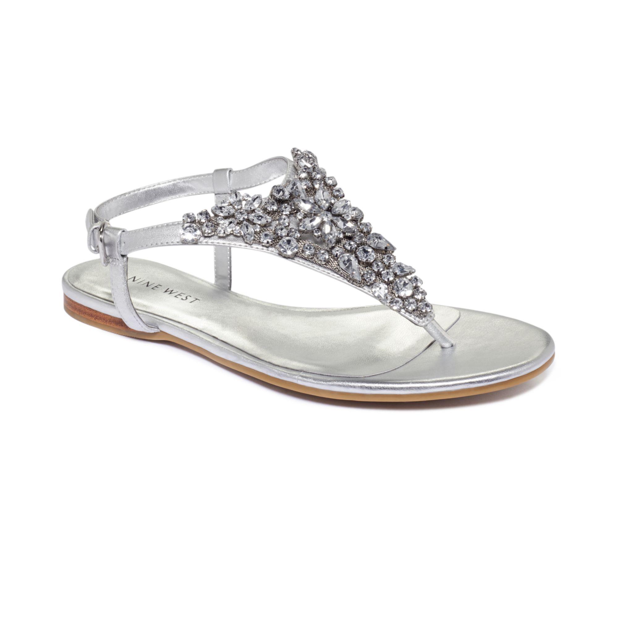 Nine West Seahorse Flat Sandals in