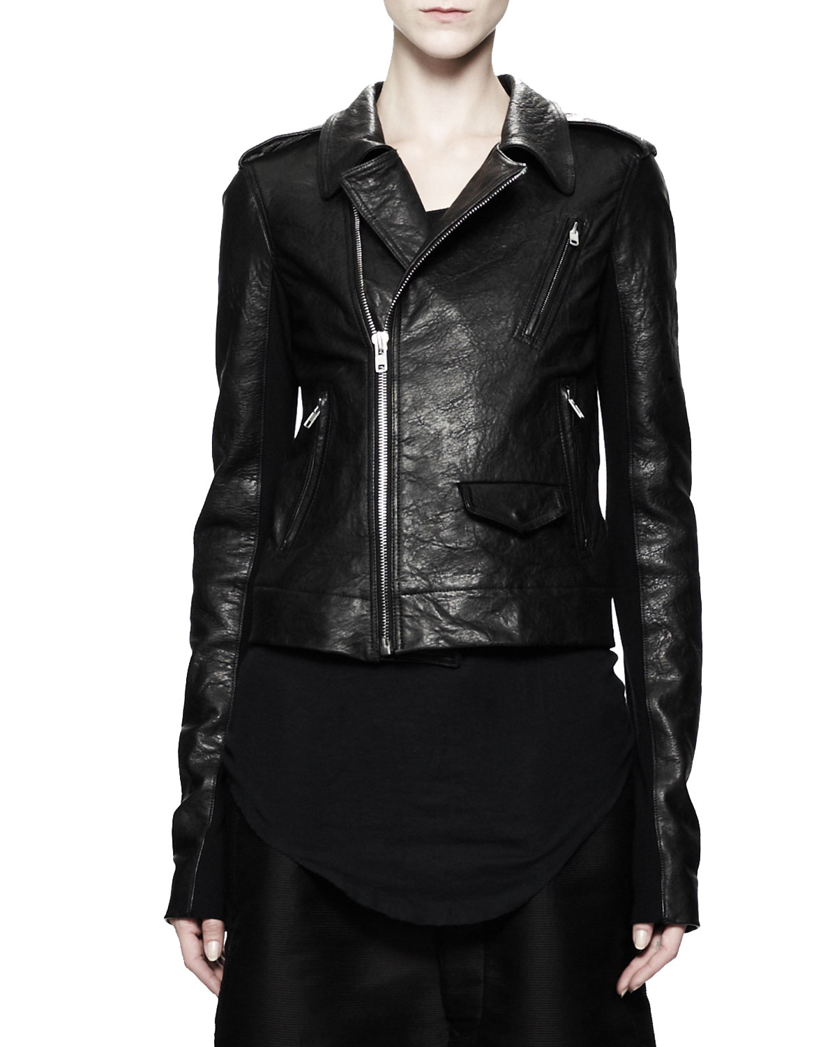 Rick Owens Stooges Multizip Leather Jacket Black in Black | Lyst