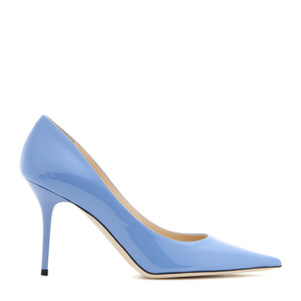 c322daa953 Jimmy Choo Agnes Patent Leather Pumps in Blue - Lyst