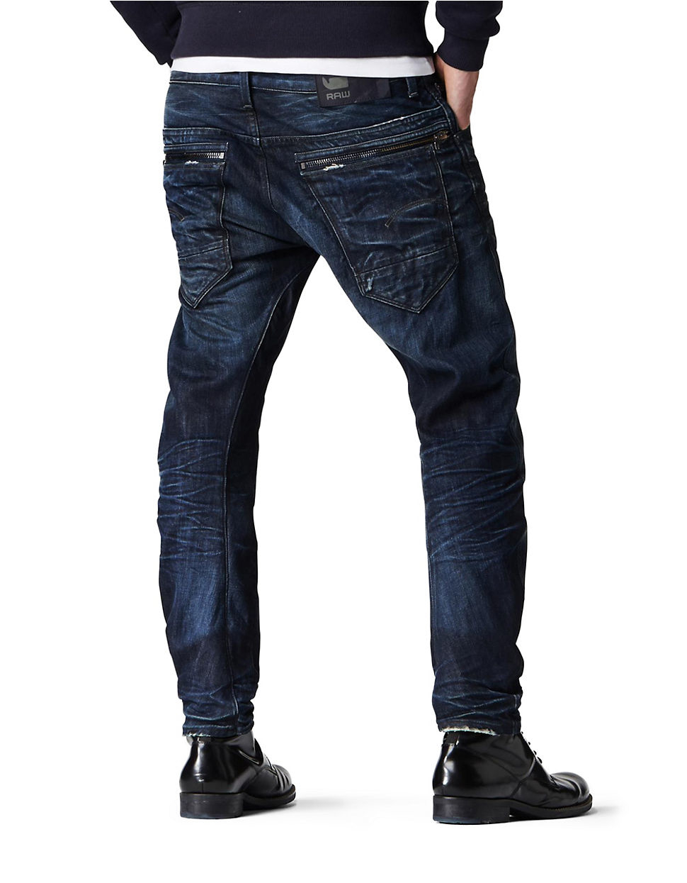7b7d915d0a8 G-Star RAW Arc Zip 3d Slim Blue-black Wash Jeans in Blue for Men - Lyst
