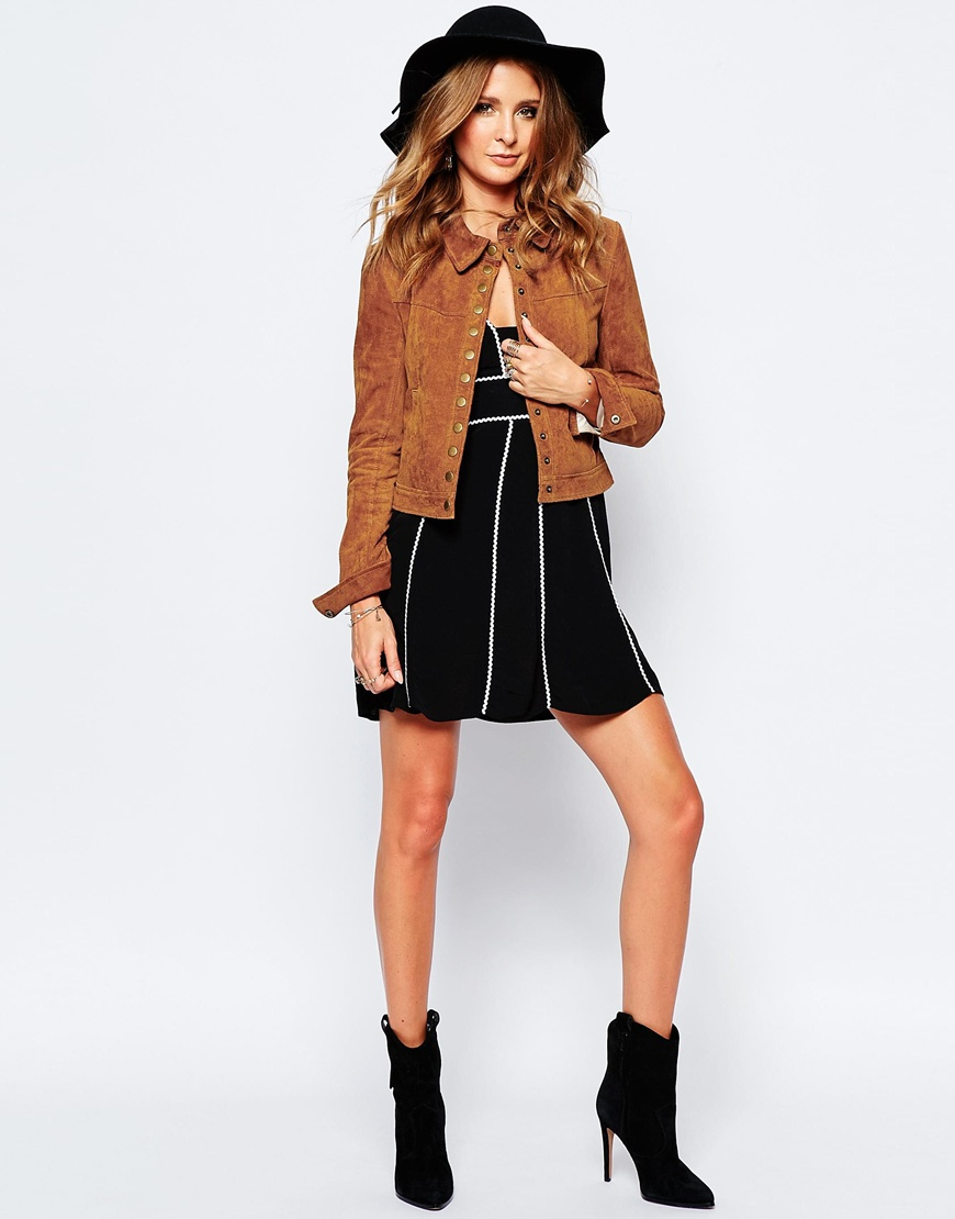 Millie Mackintosh Suede Western Jacket In Brown Lyst