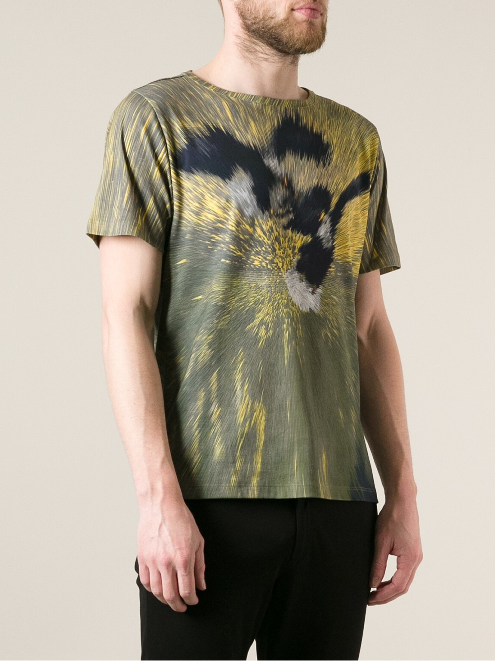 Lyst fendi printed tshirt in green for men for Sustainable t shirt printing