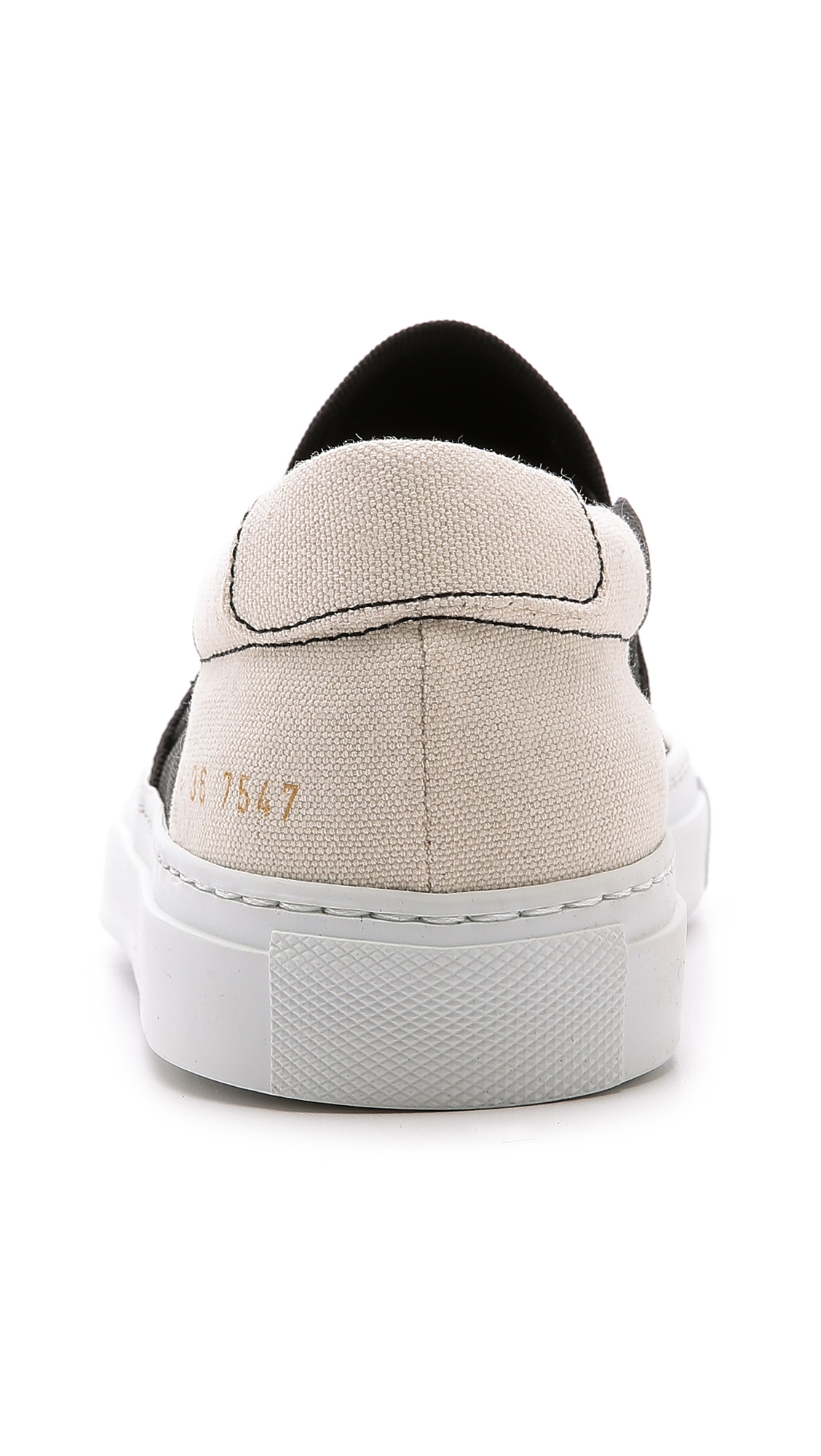 6397 X Common Projects Slip On Sneakers - Black Combo
