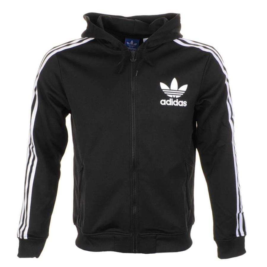 1ba3c7dcb7 Lyst - adidas Originals Adi Hooded Flock Jumper in Black for Men