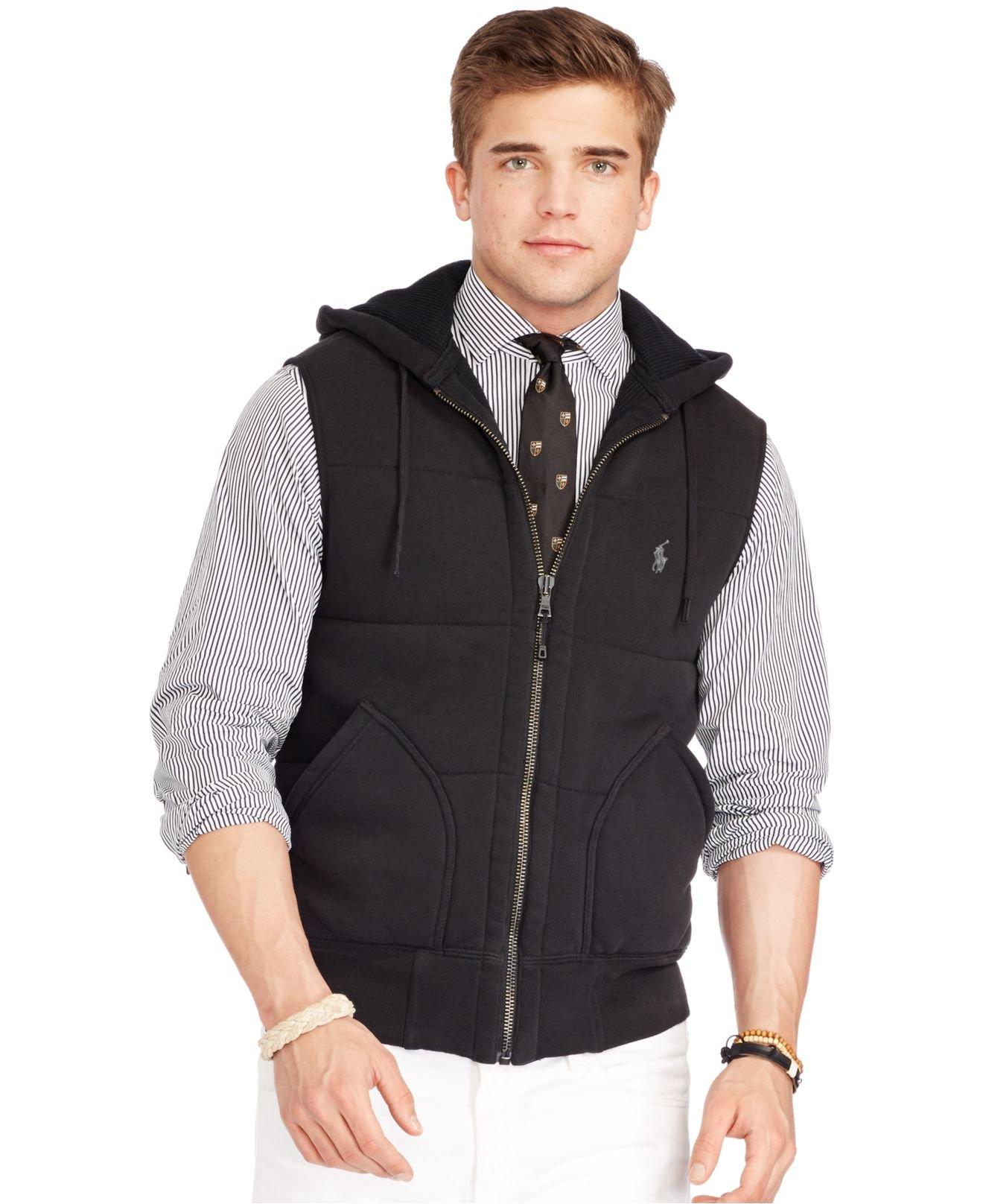 For Black Men Fleece Quilted Vest Polo Lauren Ralph A5qS4RL3jc